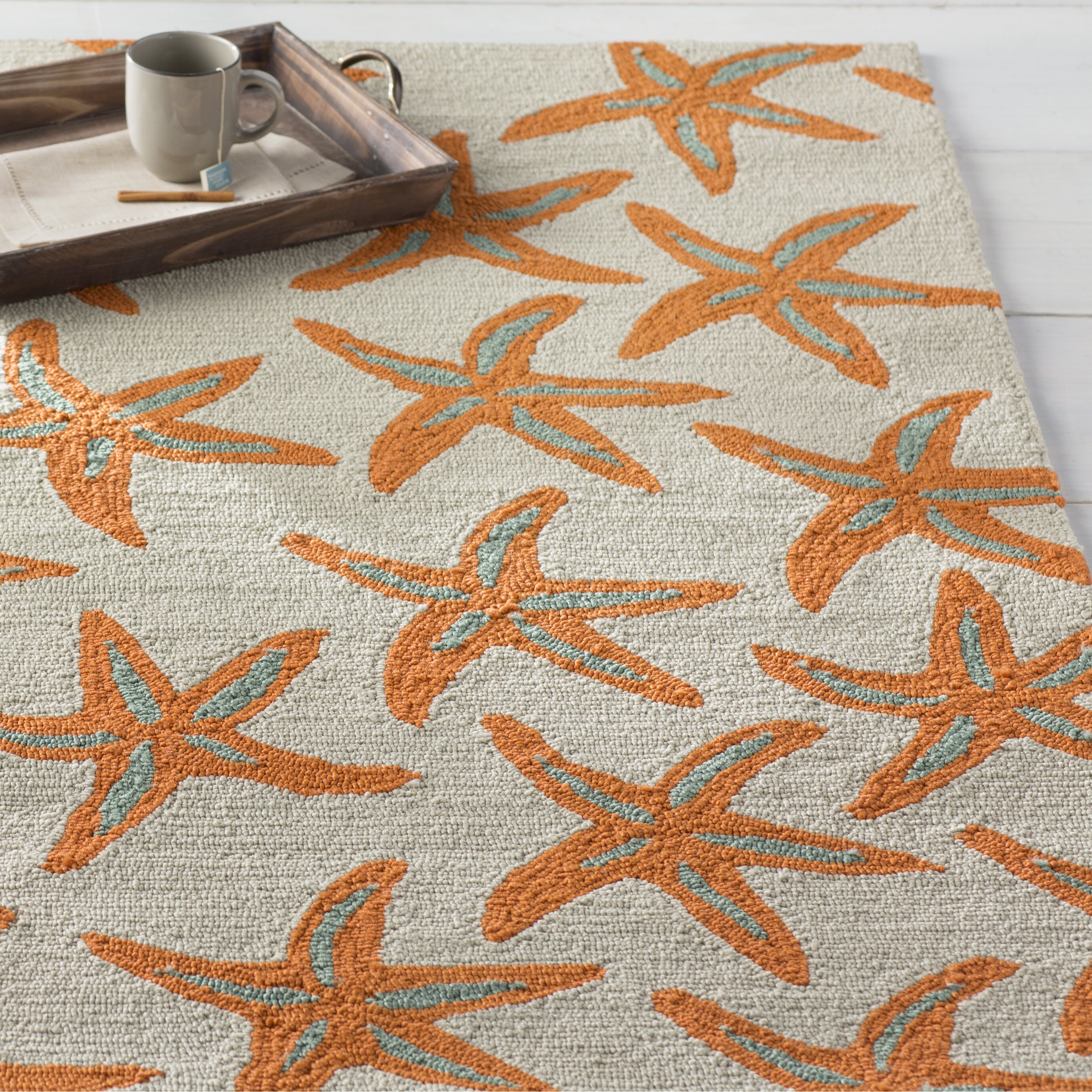 Solana Orange/Beige Indoor/Outdoor Area Rug