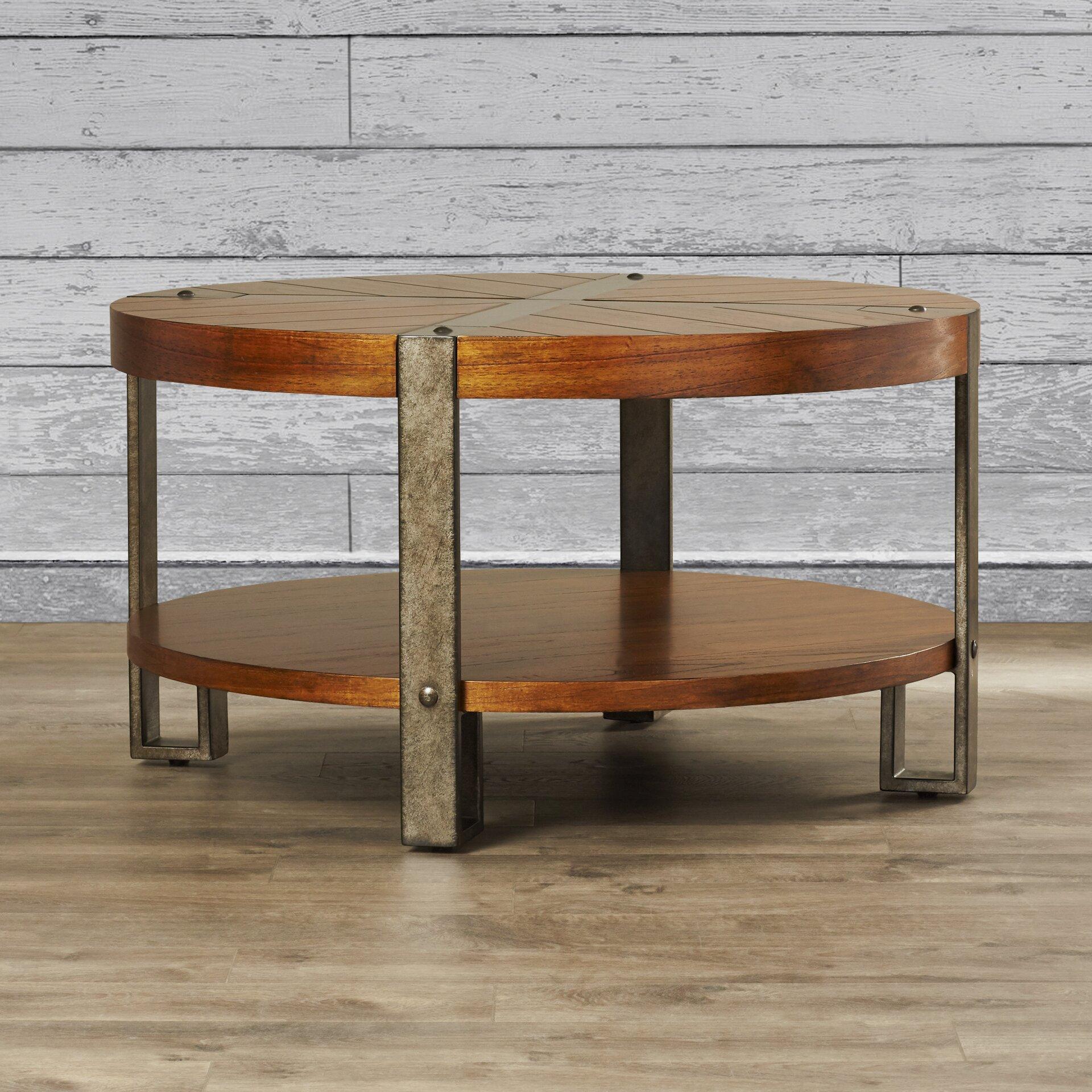 Hopper Storage Coffee Table: Gallatin Round Coffee Table