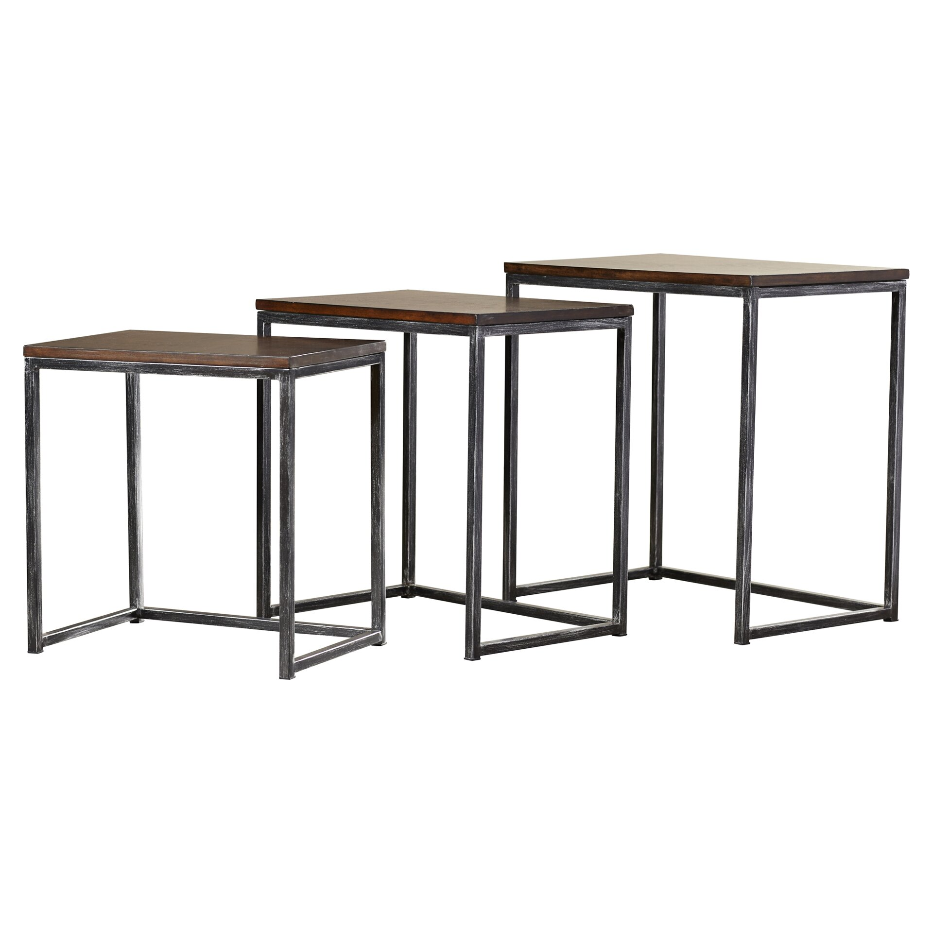Trent Austin Design Wheeler 3 Piece Nesting Tables amp Reviews Wayfair