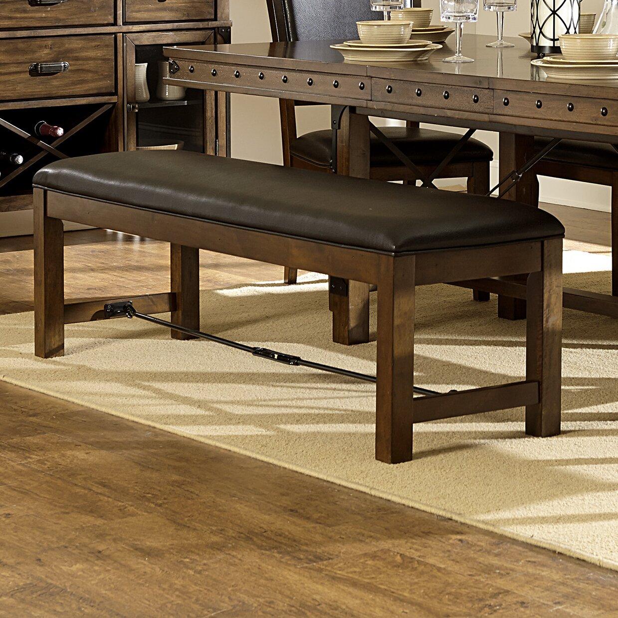 Alegre Wood Upholstered Kitchen Bench