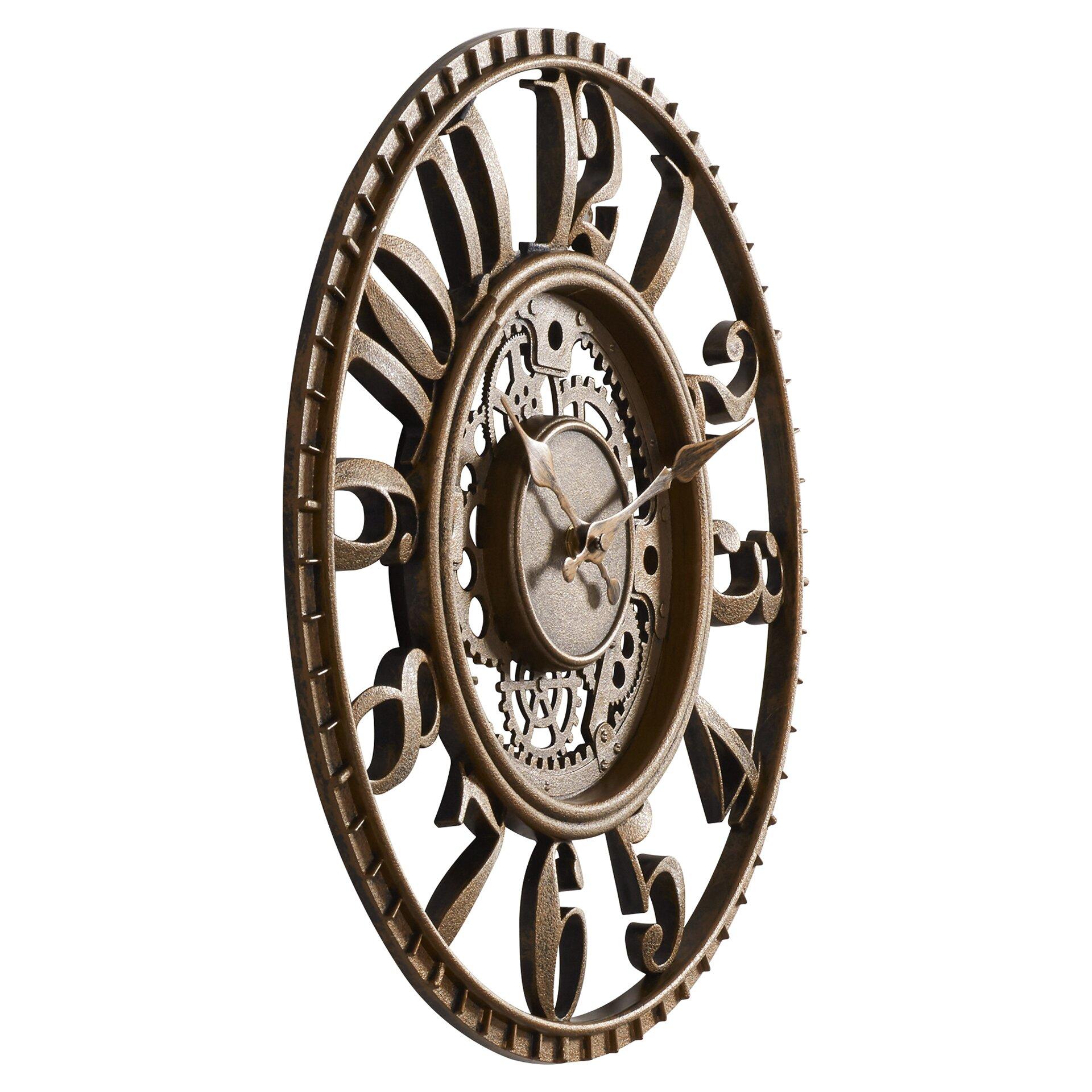 Knoll 15 5 Quot Open Dial Gear Wall Clock Wayfair