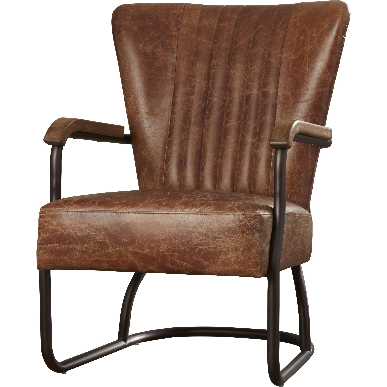 Cactus Lane Top Grain Leather Arm Chair Wayfair