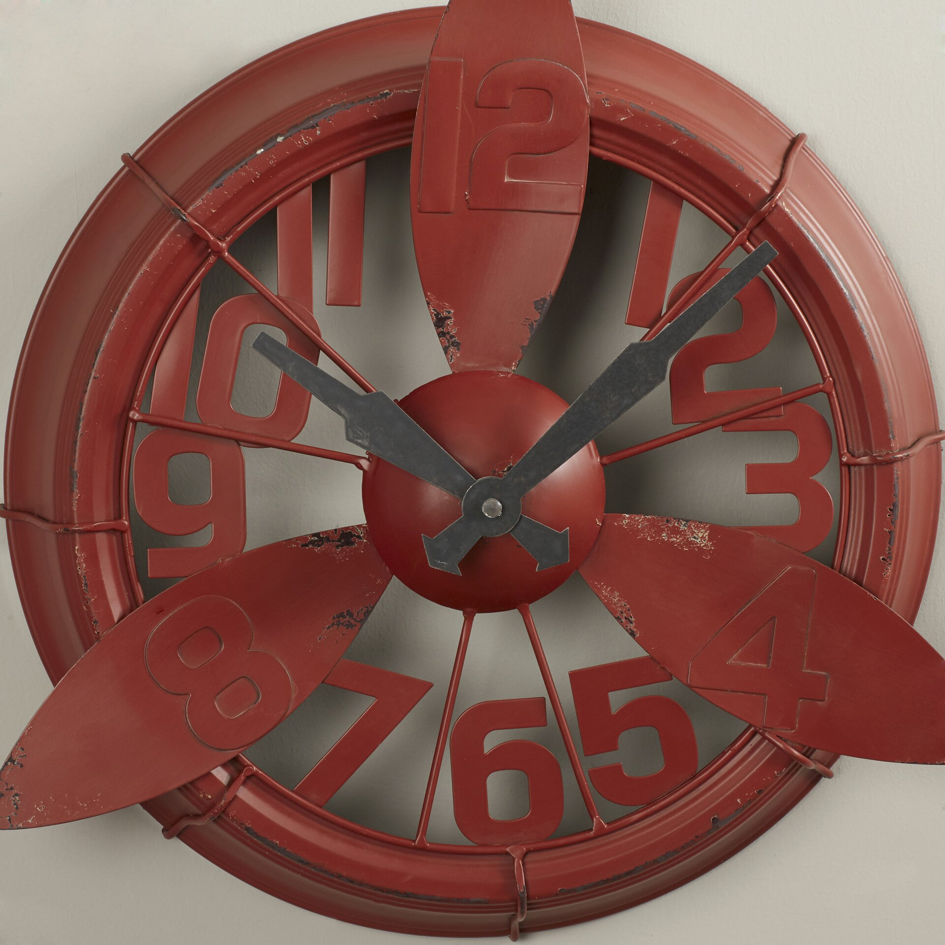 Propeller Wall Clock : Trent austin design propeller quot wall clock reviews