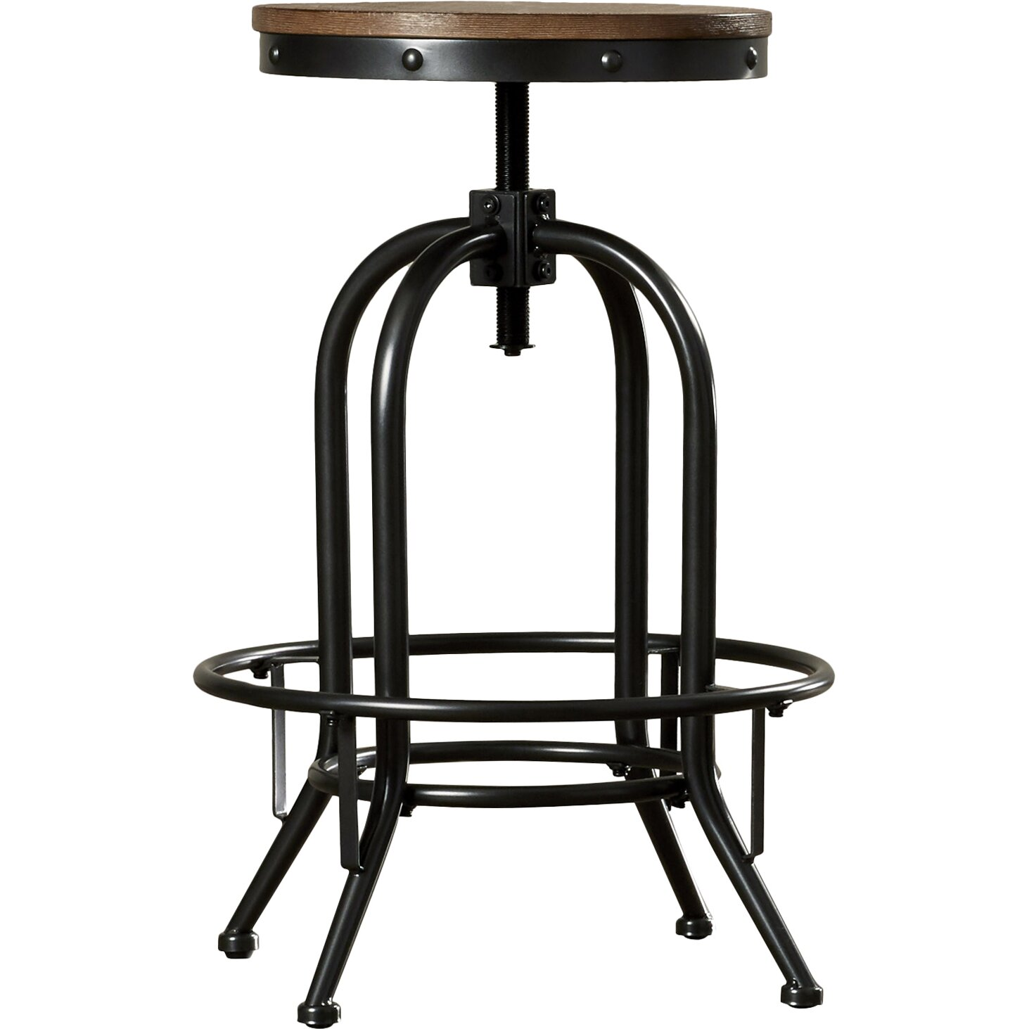 Carmel Adjustable Height Swivel Bar Stool Wayfair