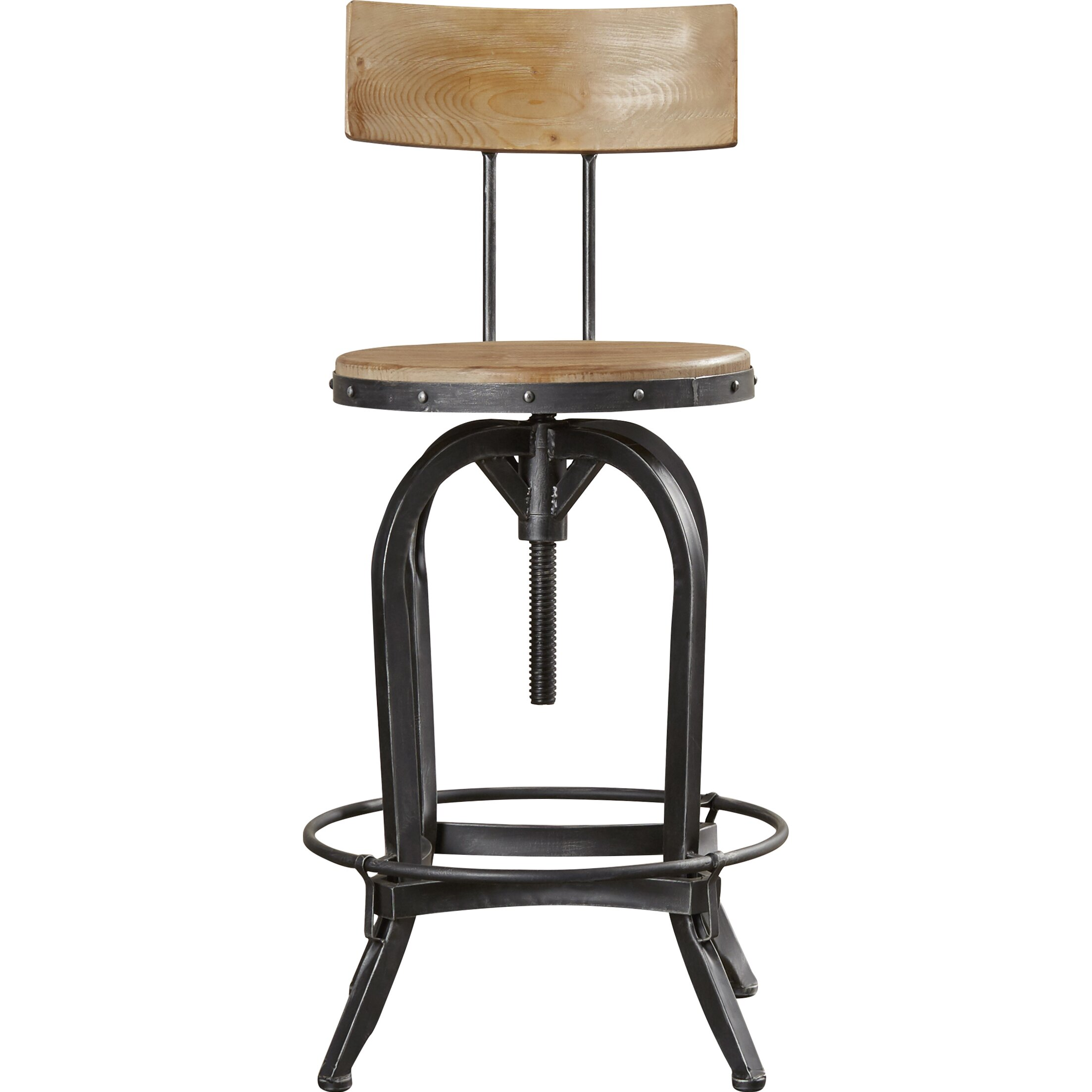 Oria Adjustable Height Swivel Bar Stool Wayfair