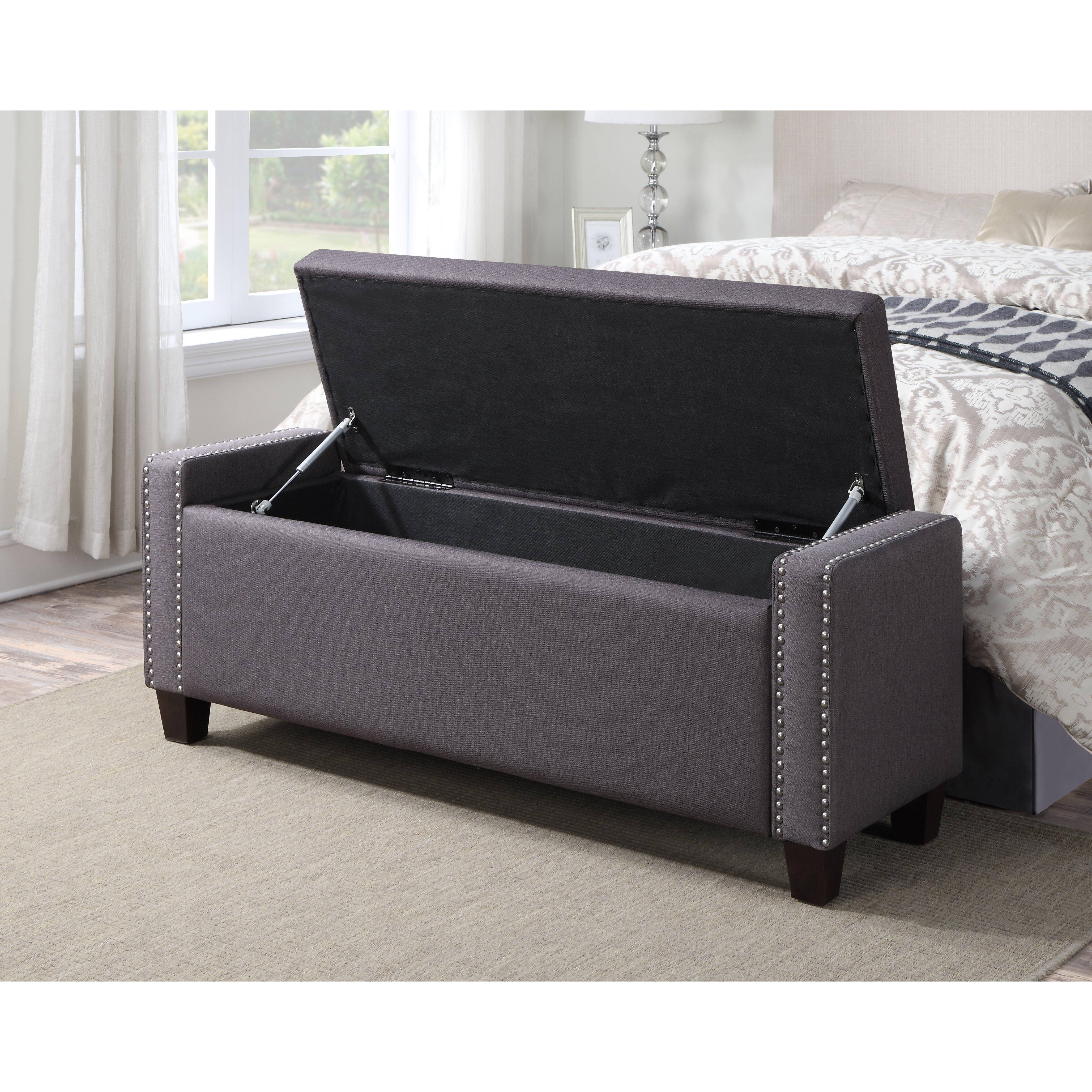 Gistel Upholstered Storage Bedroom Bench Wayfair