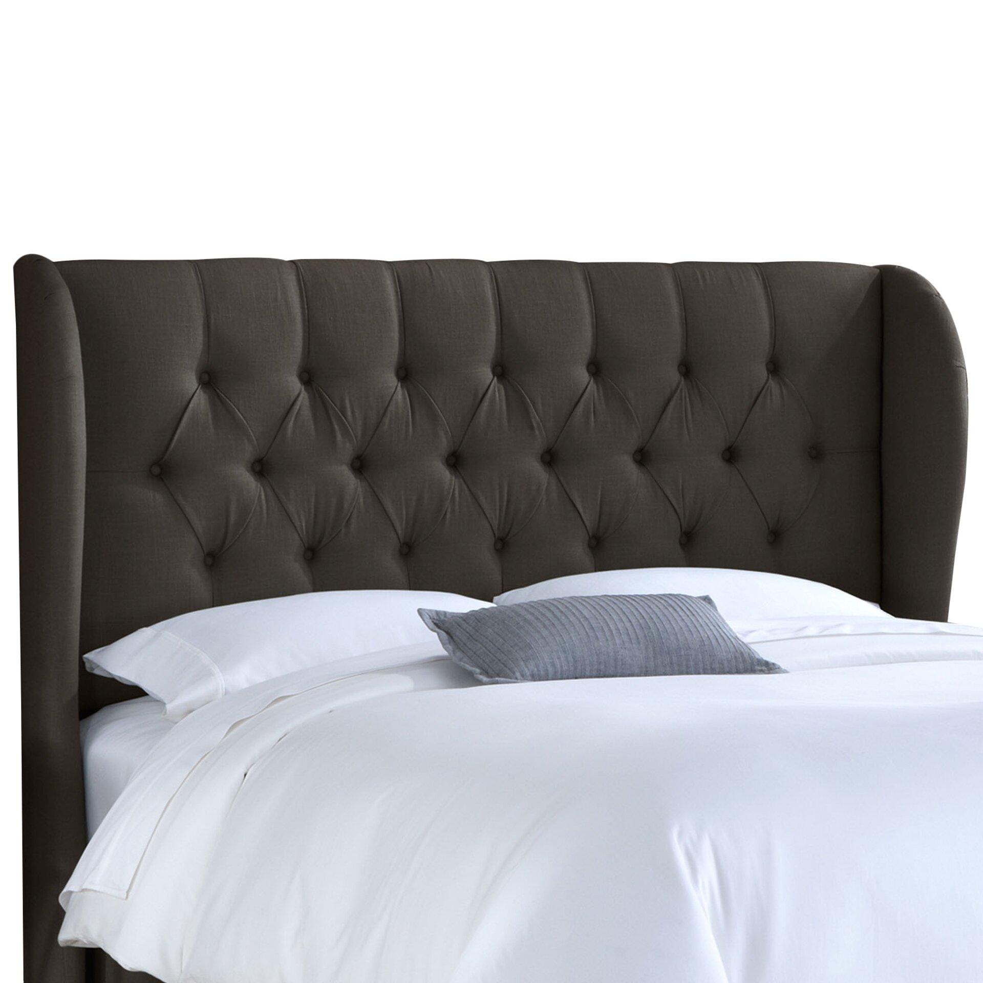 house of hampton stowmarket tufted linen diamond. Black Bedroom Furniture Sets. Home Design Ideas