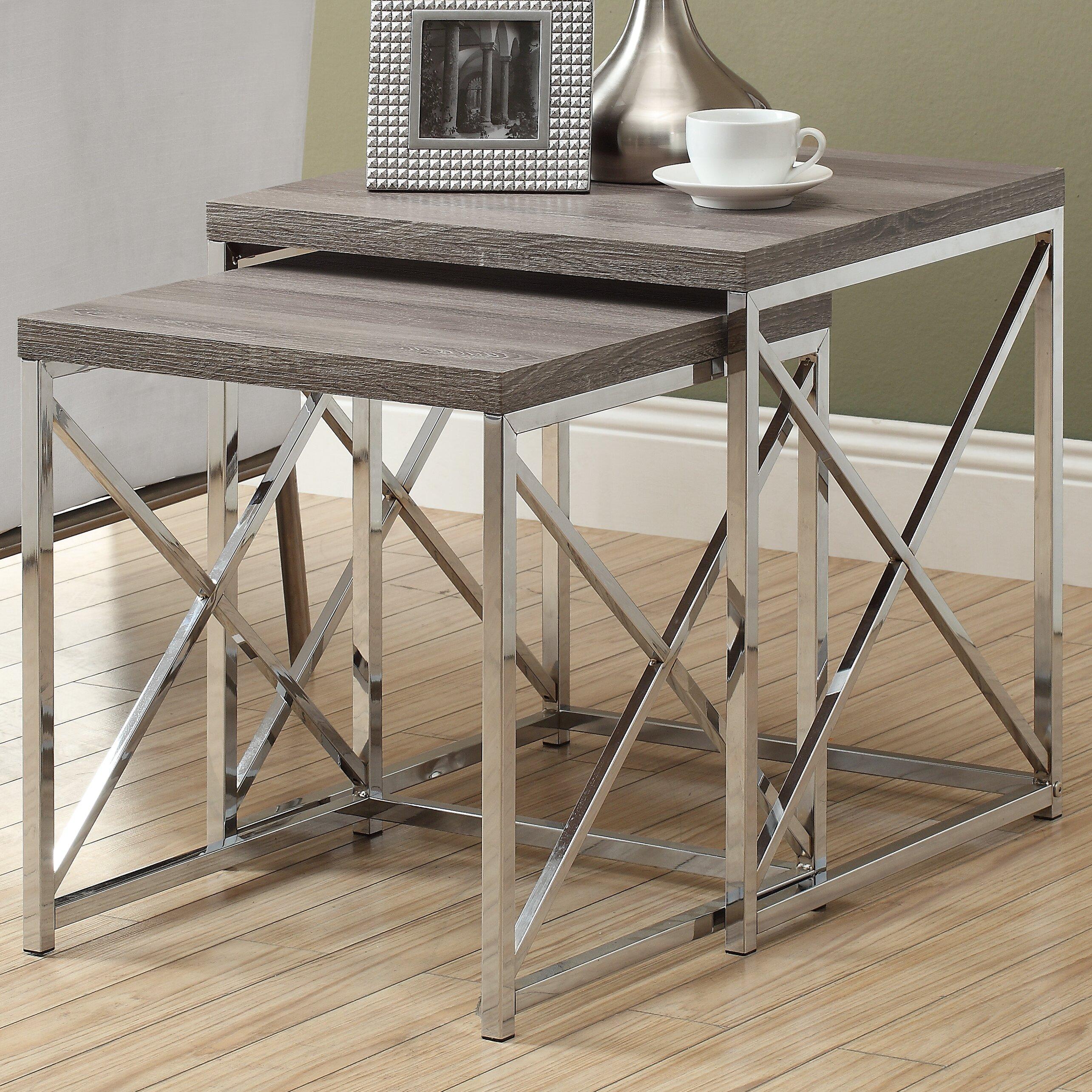 House of Hampton Oliver 2 Piece Nesting Table Set & Reviews | Wayfair