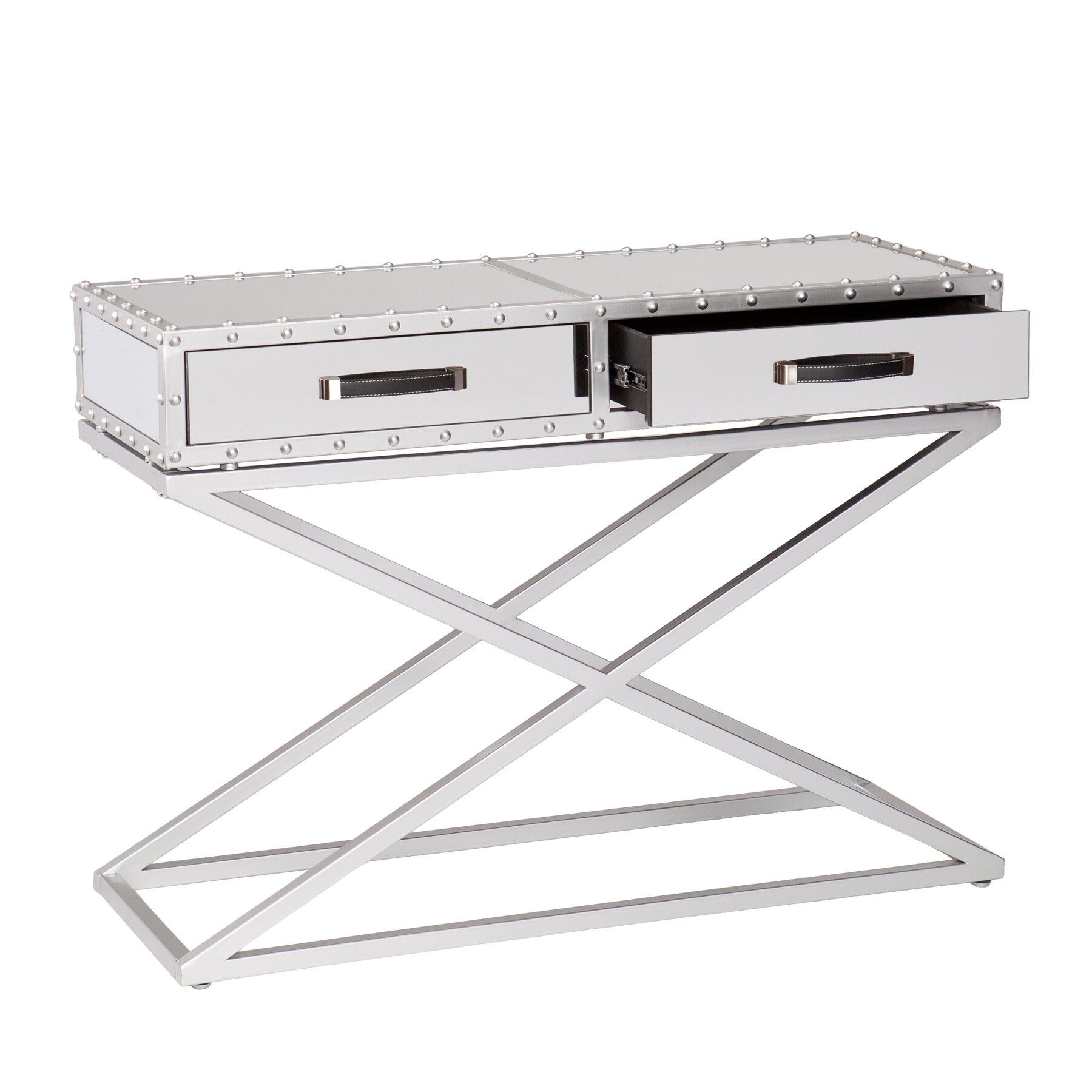 Dontos Industrial Kitchen Cart Southern Enterprises: House Of Hampton Ermont Console Table & Reviews