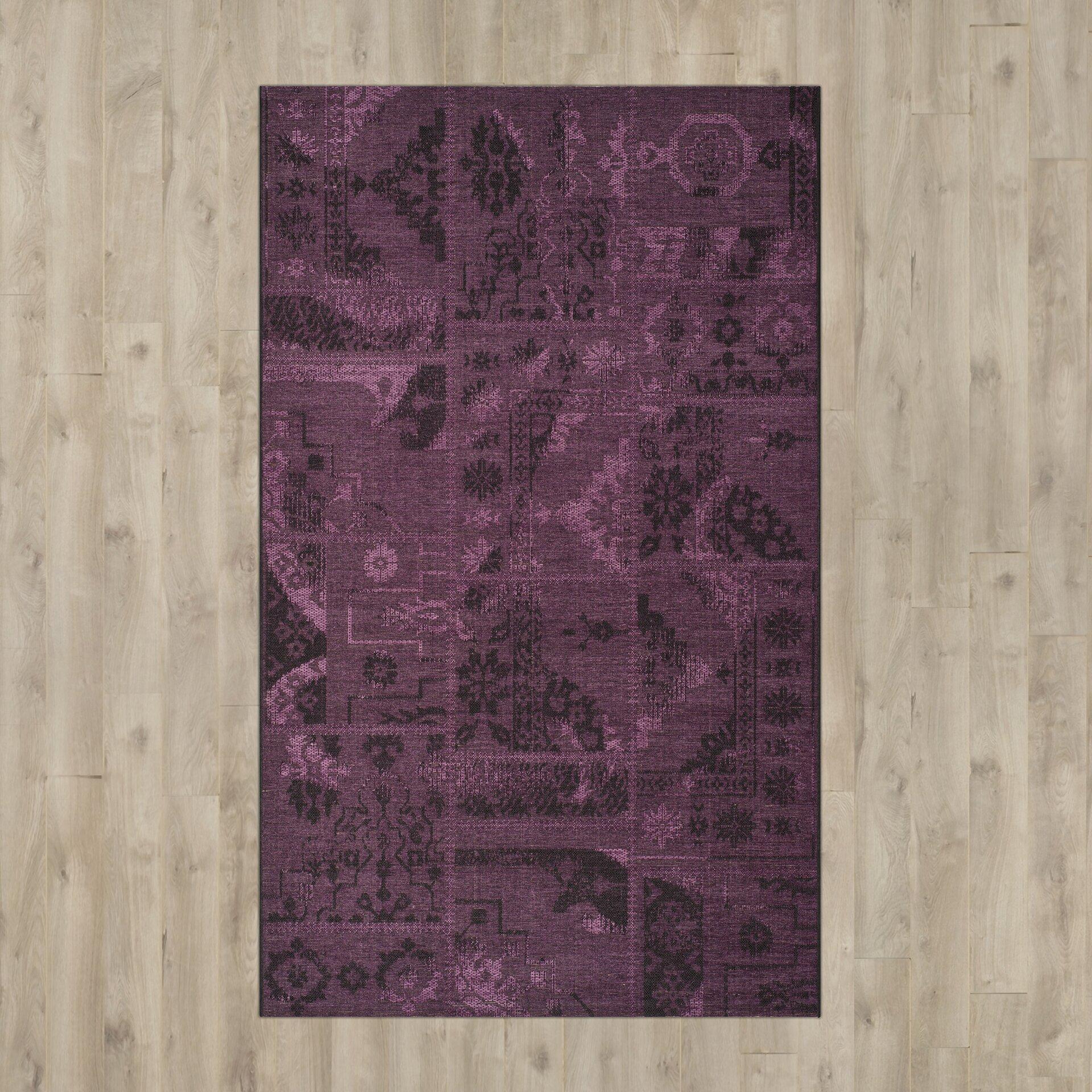 purple and black rugs