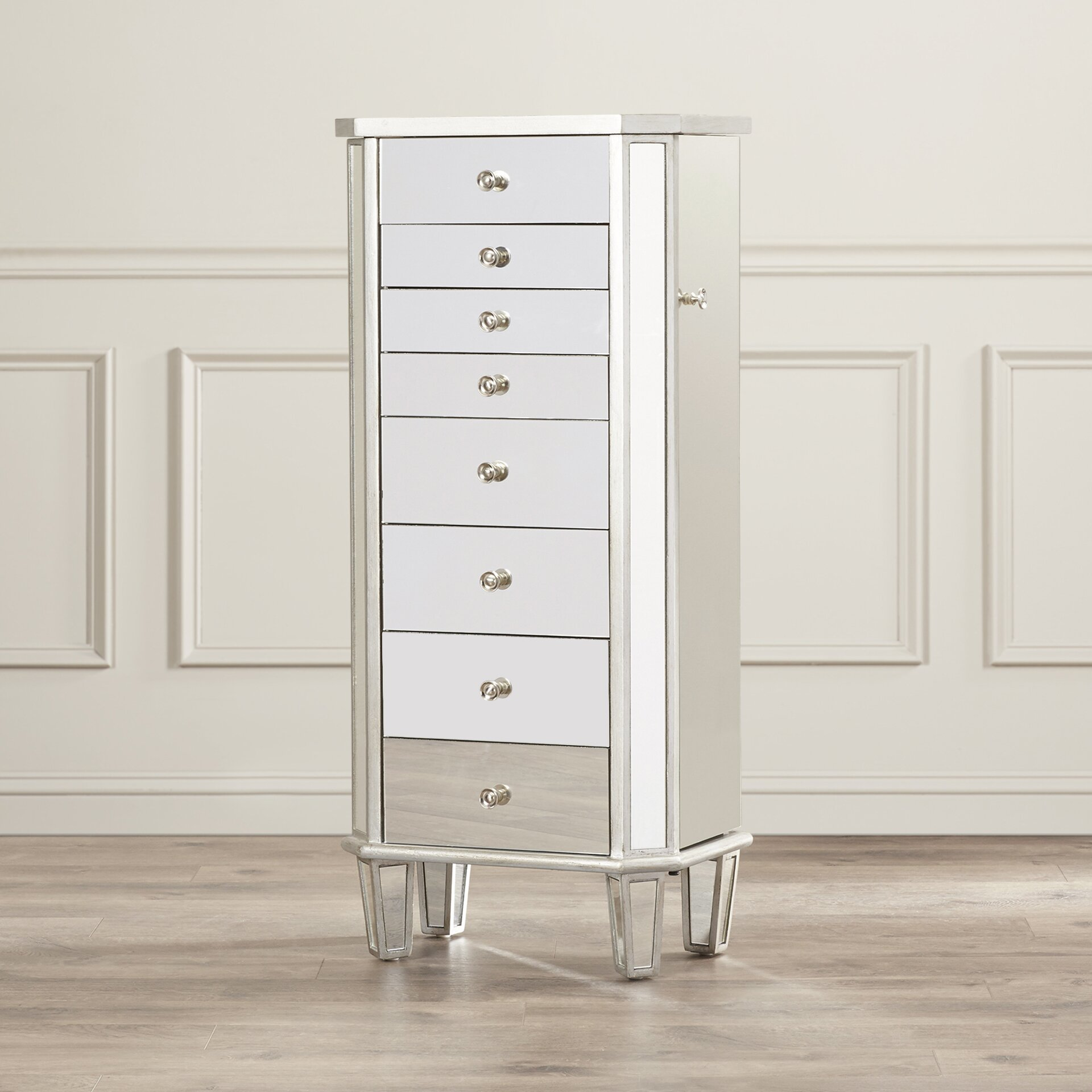 House of Hampton Rothwell Jewelry Armoire with Flip Top ...