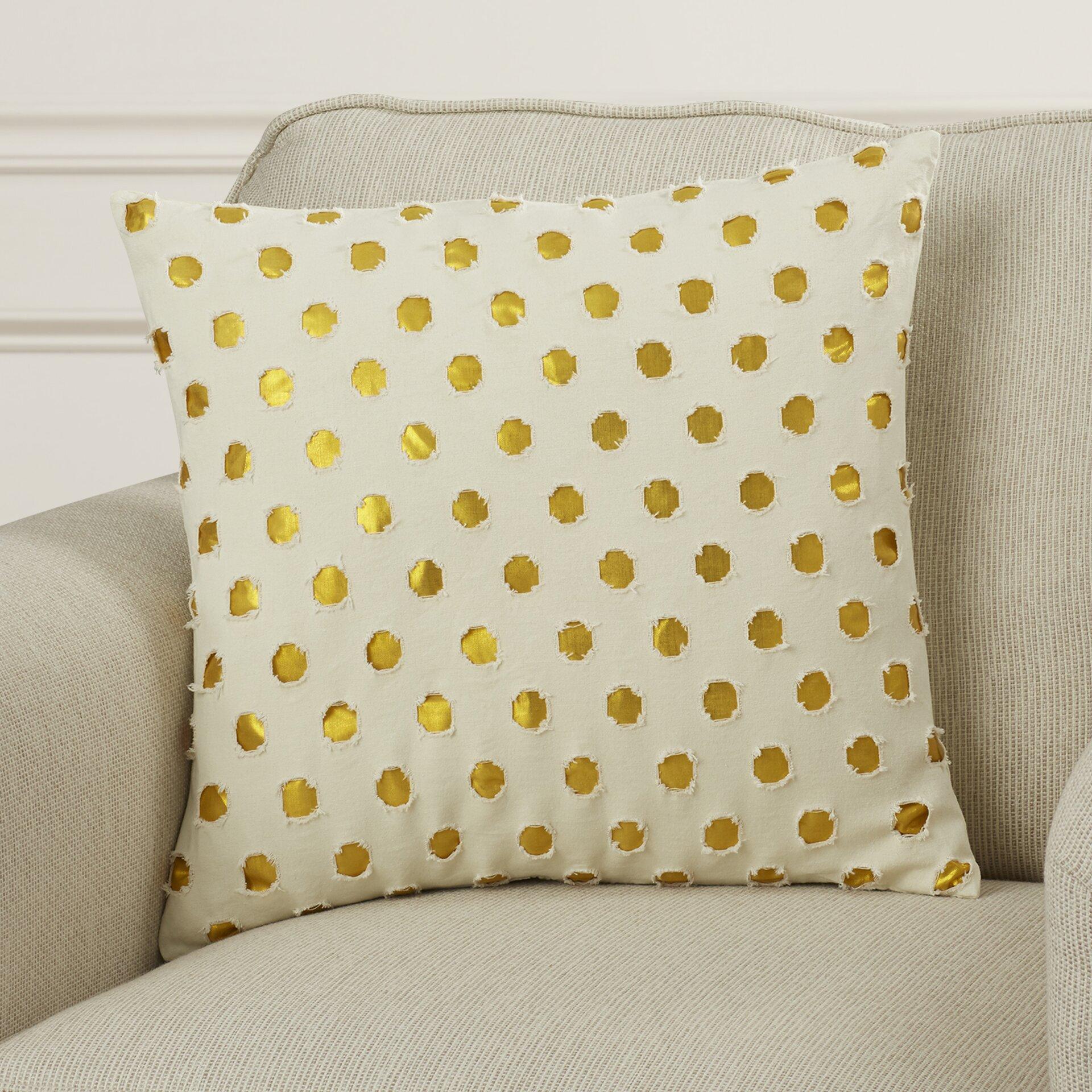 Polka dot outdoor throw pillow wayfair for Buy hampton inn pillows