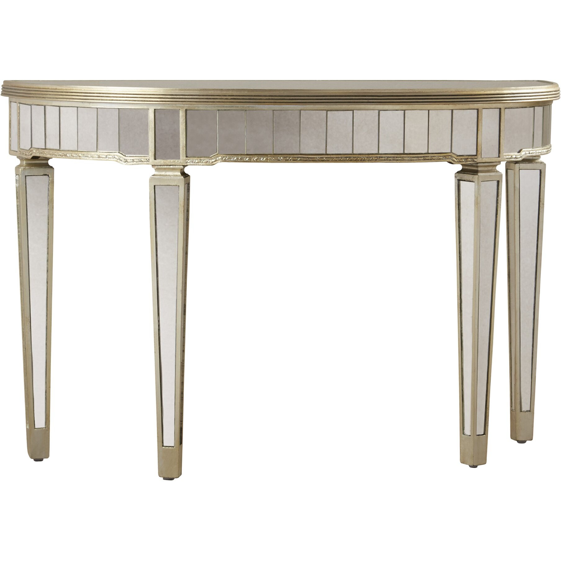 Mirrored Console Table: Sandbach Mirrored Console Table In Antique Silver