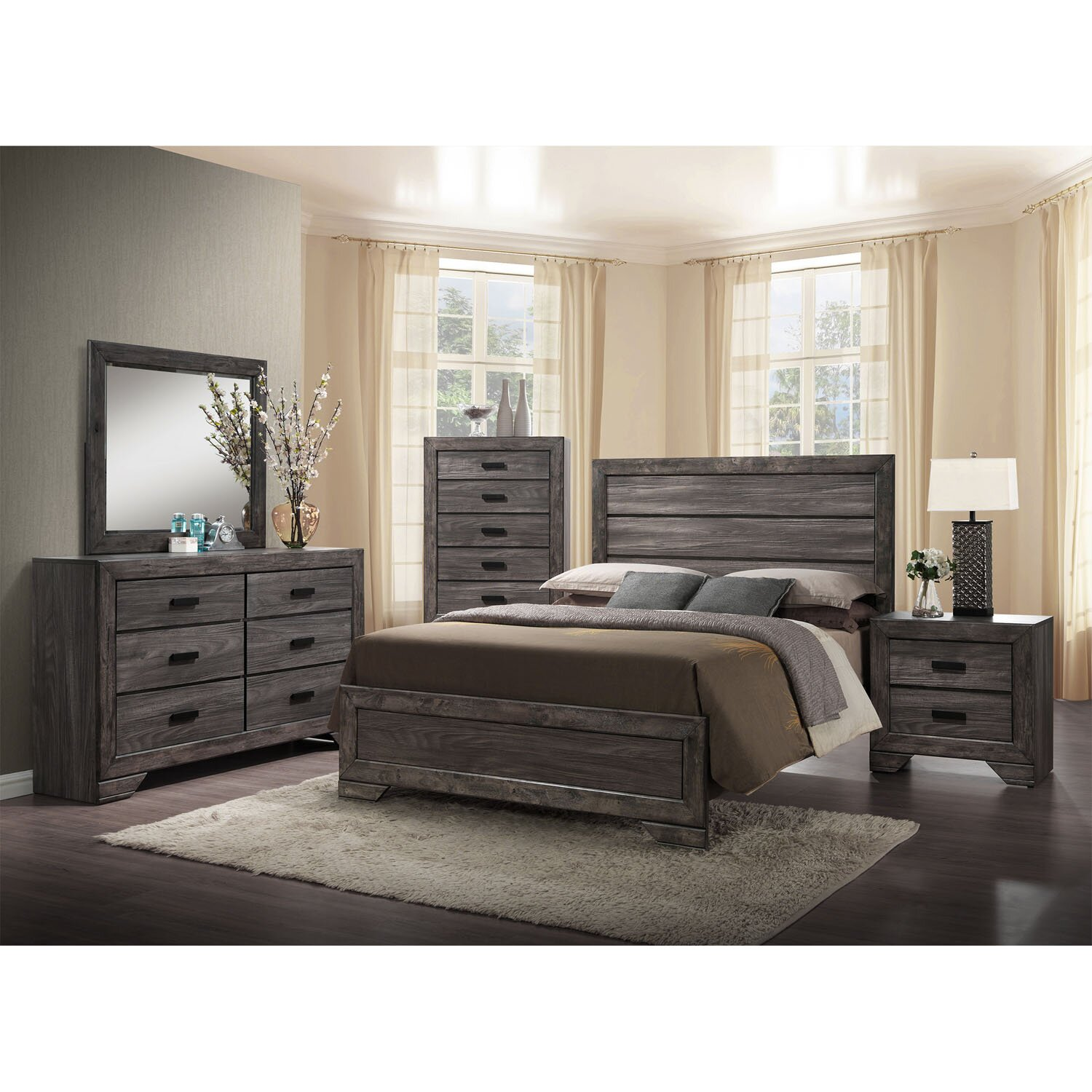 Drexel Panel 5 Piece Bedroom Set