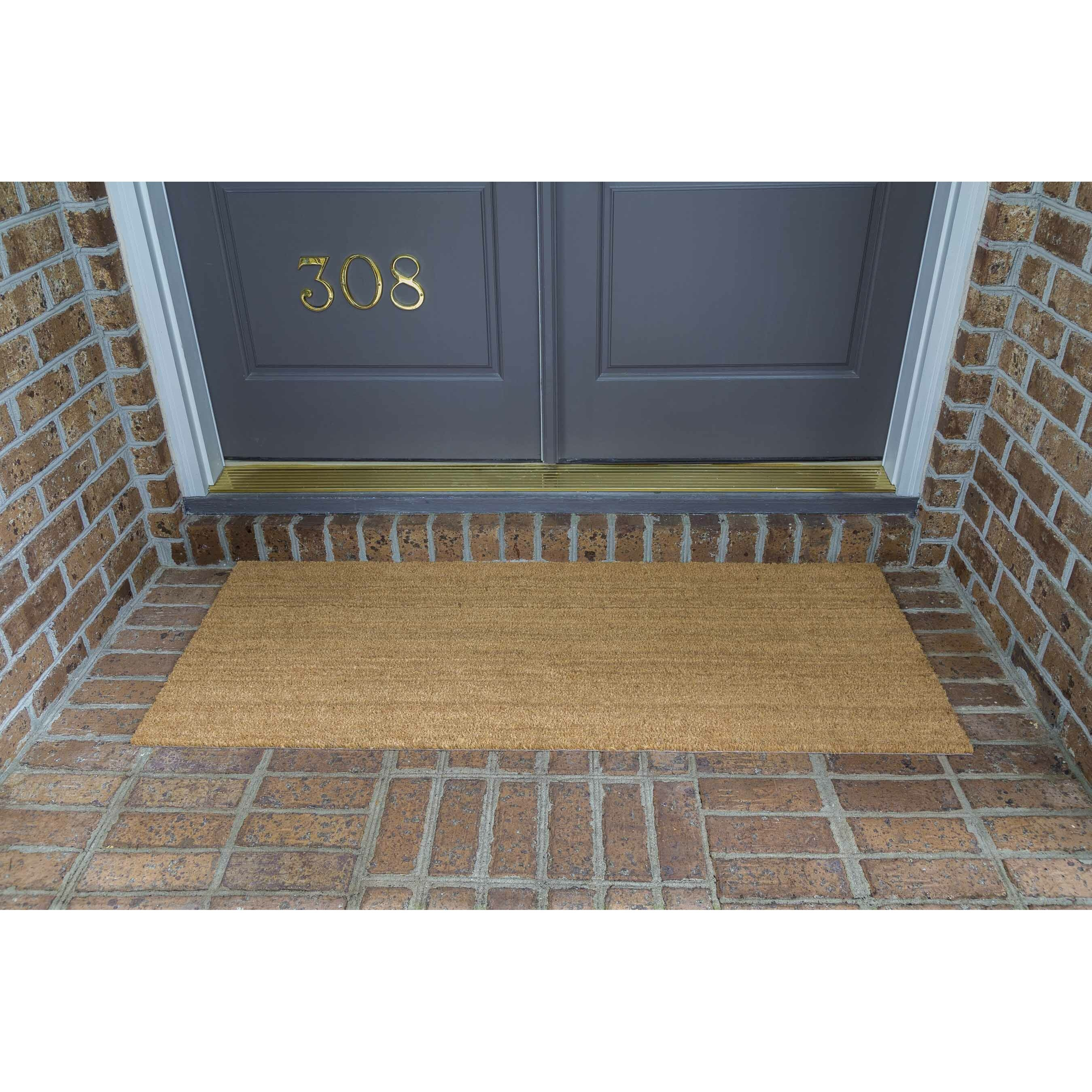 decoir solid double door doormat wayfair. Black Bedroom Furniture Sets. Home Design Ideas