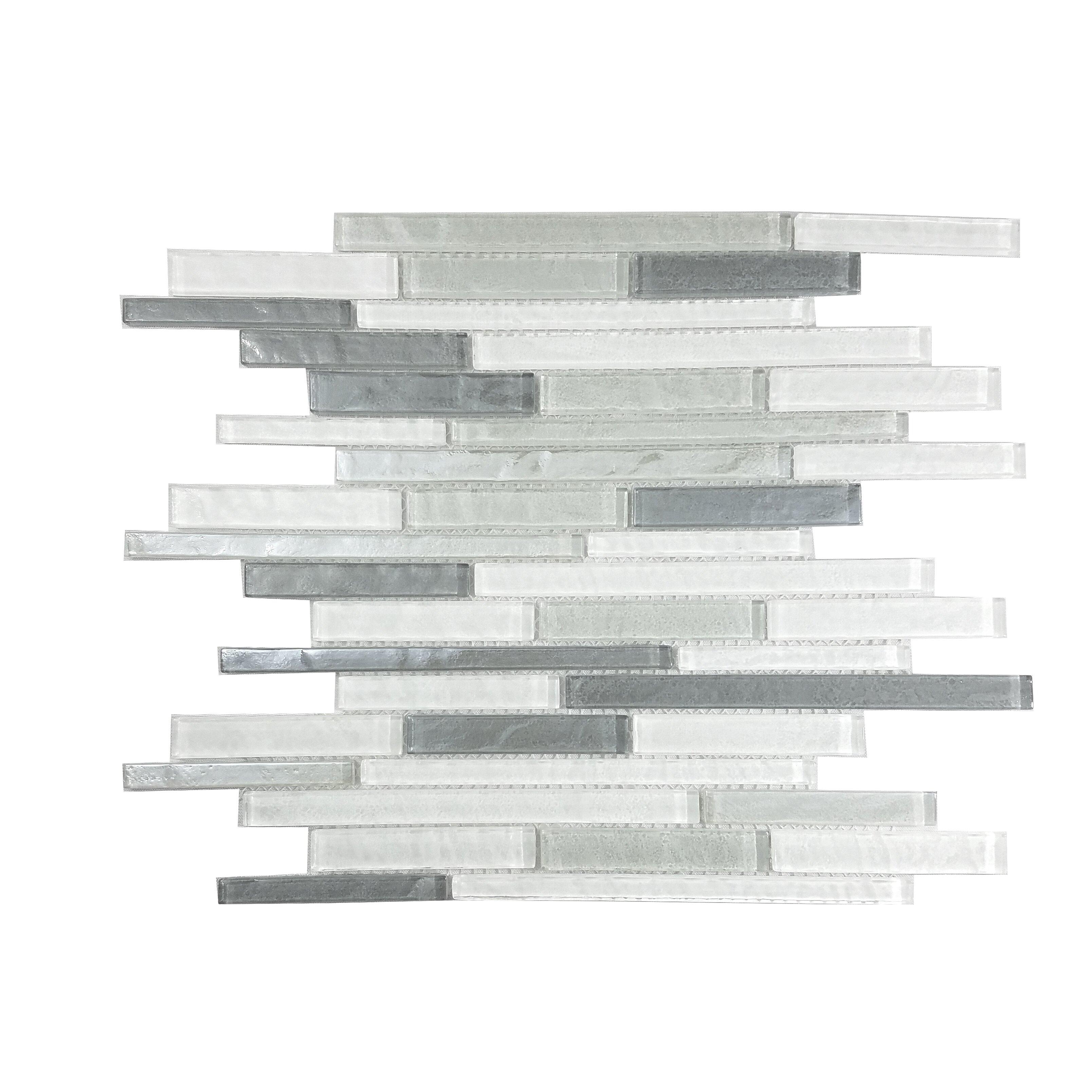 Geo Random Sized Glass Mosaic