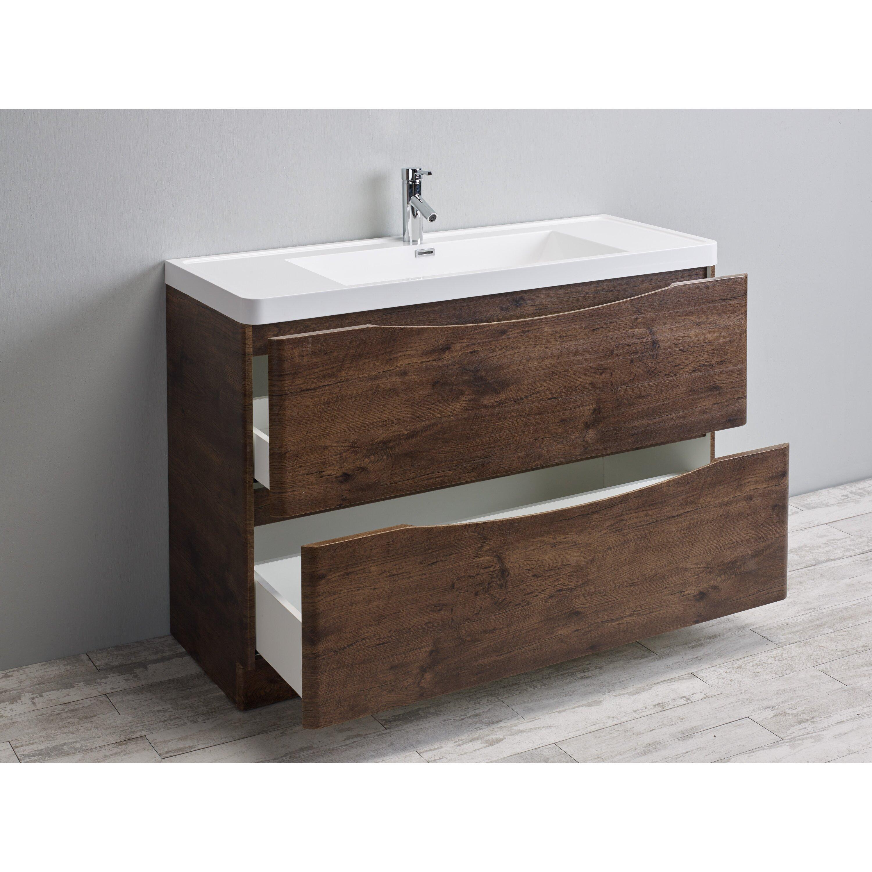Smile 48 modern bathroom vanity set wayfair - Contemporary bathroom vanity sets ...
