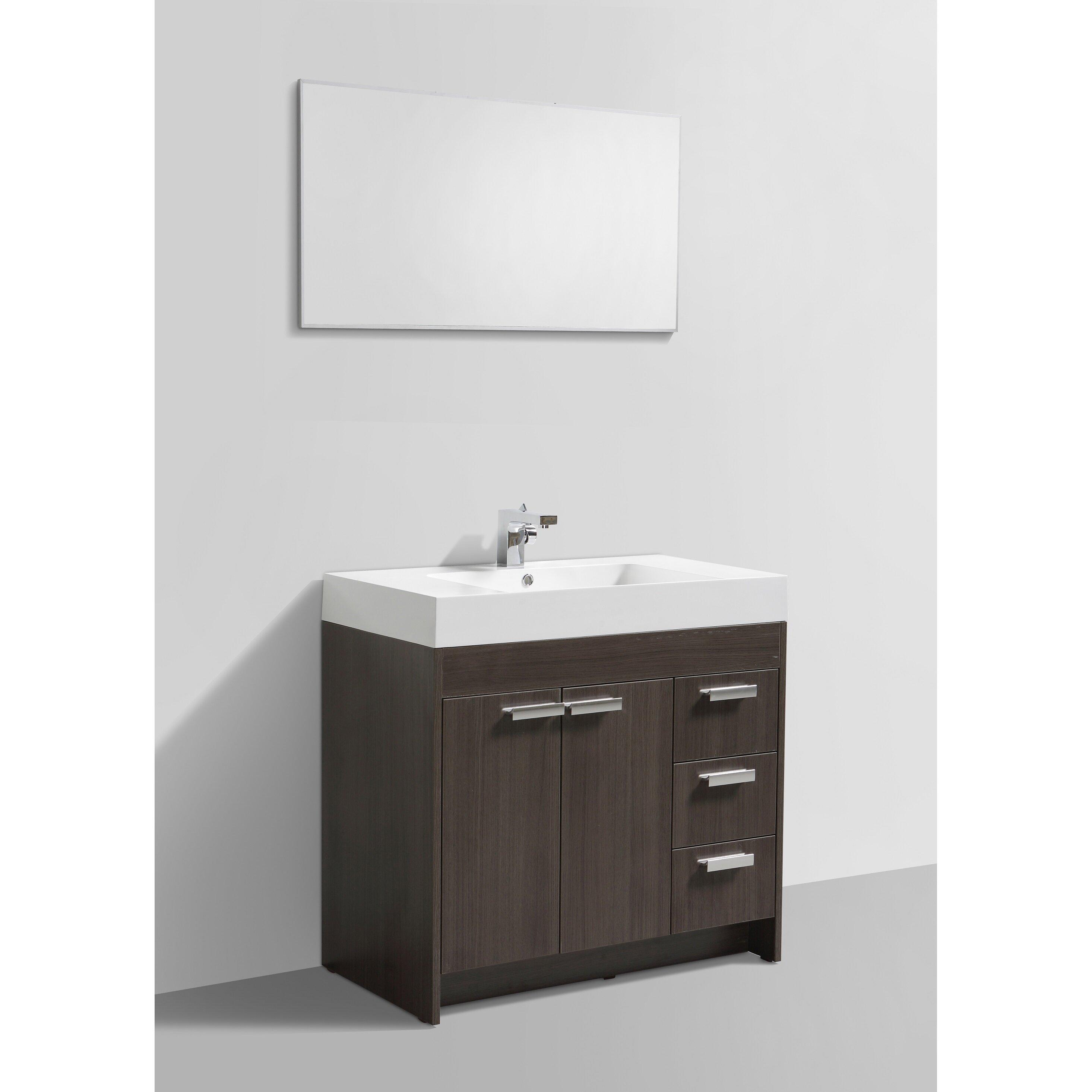 """Modern Bathrooms Setting Ideas: Eviva Lugano 36"""" Single Modern Bathroom Vanity Set"""