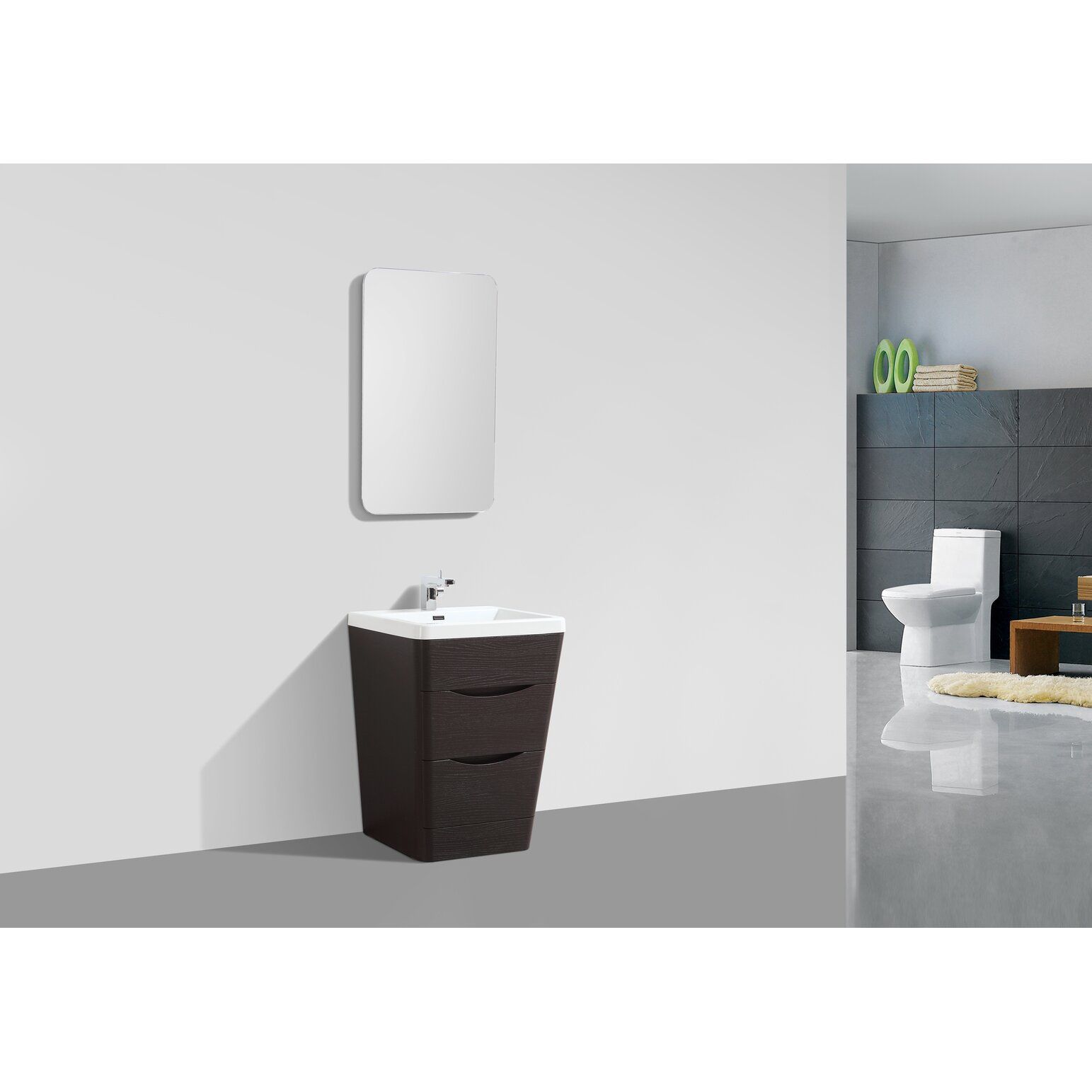 """All Modern Bathroom Vanity: Eviva Victoria 25"""" Single Modern Bathroom Vanity Set"""