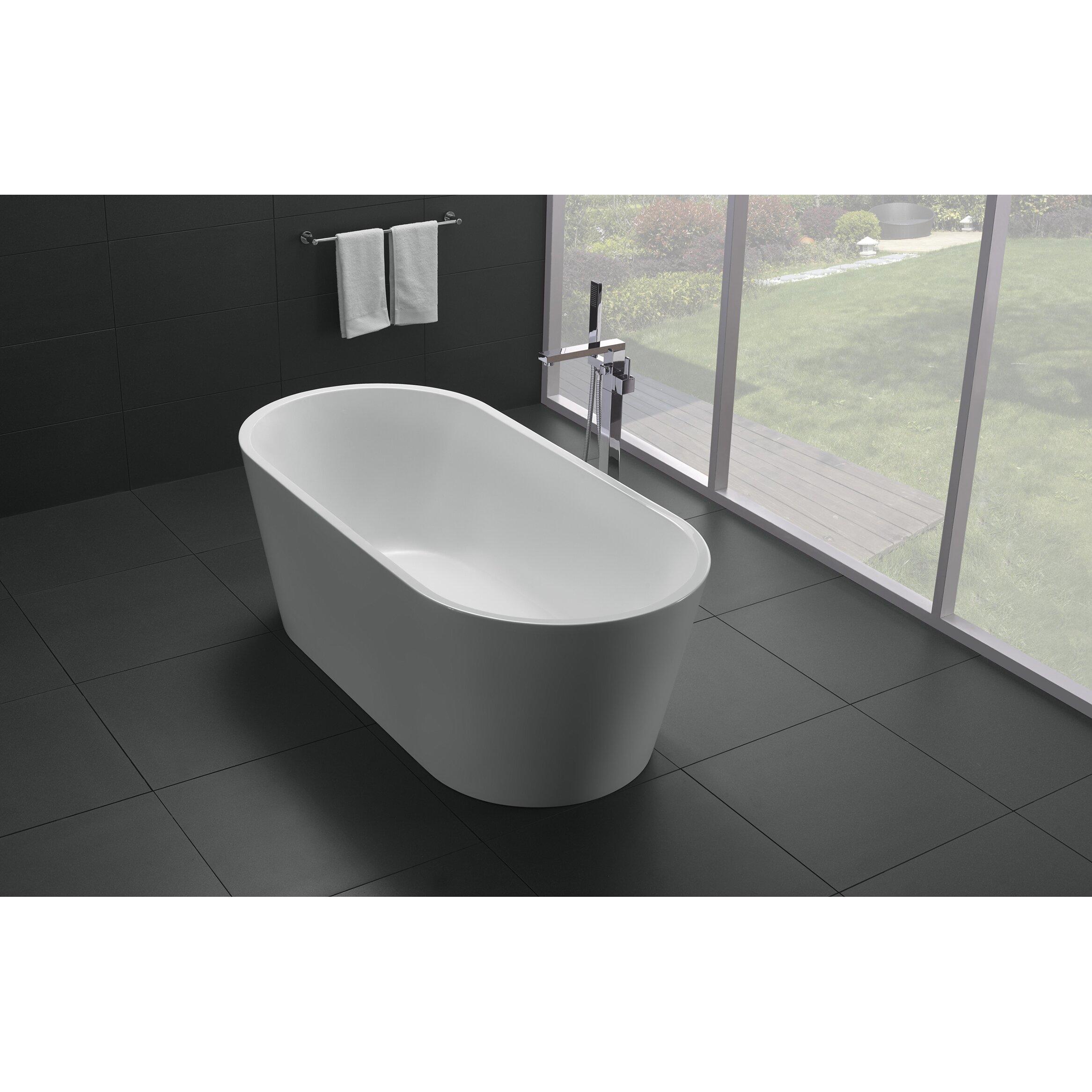 Alexa x 30 bathtub wayfair for Best acrylic bathtub to buy