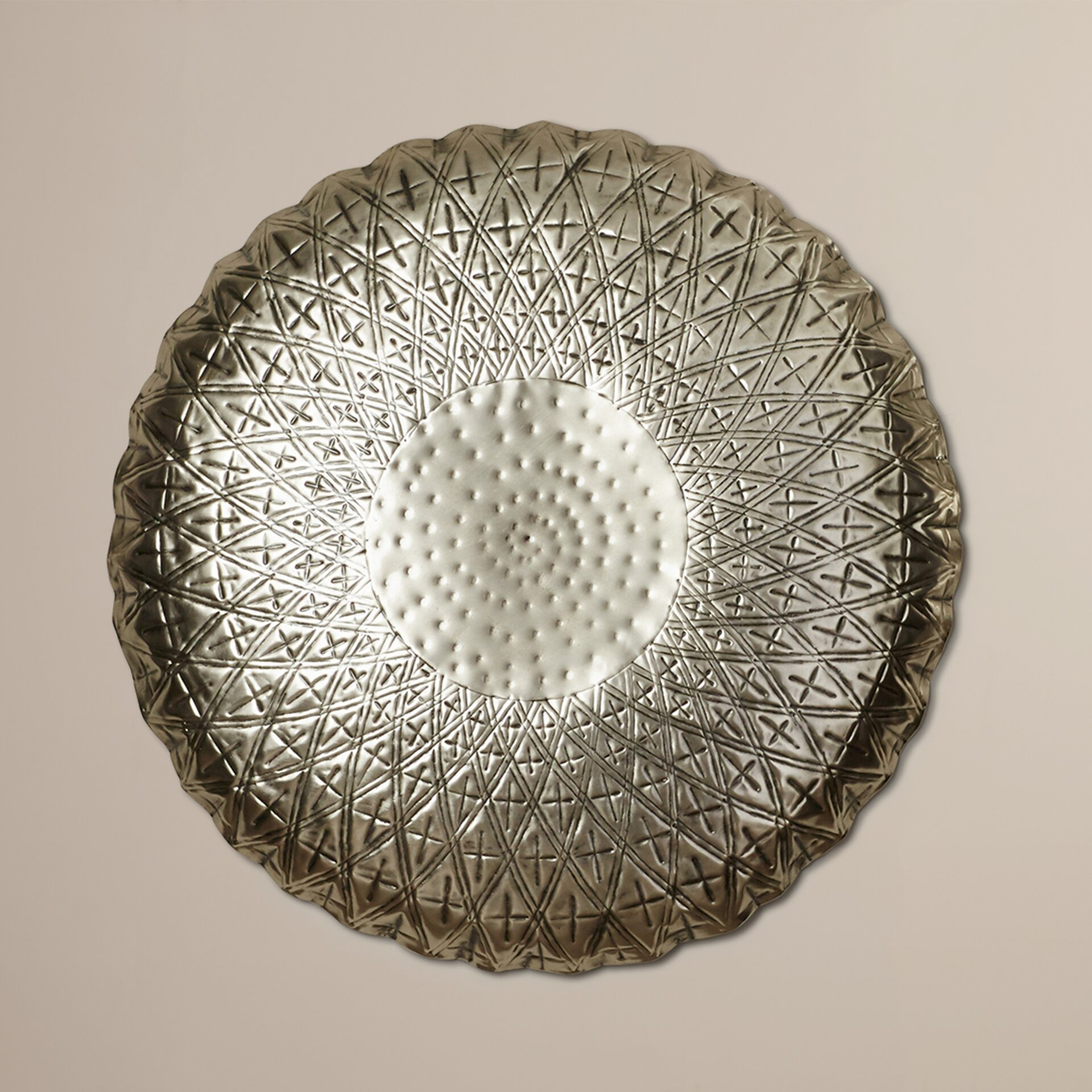 Classy Metal Round Wall D Cor Wayfair
