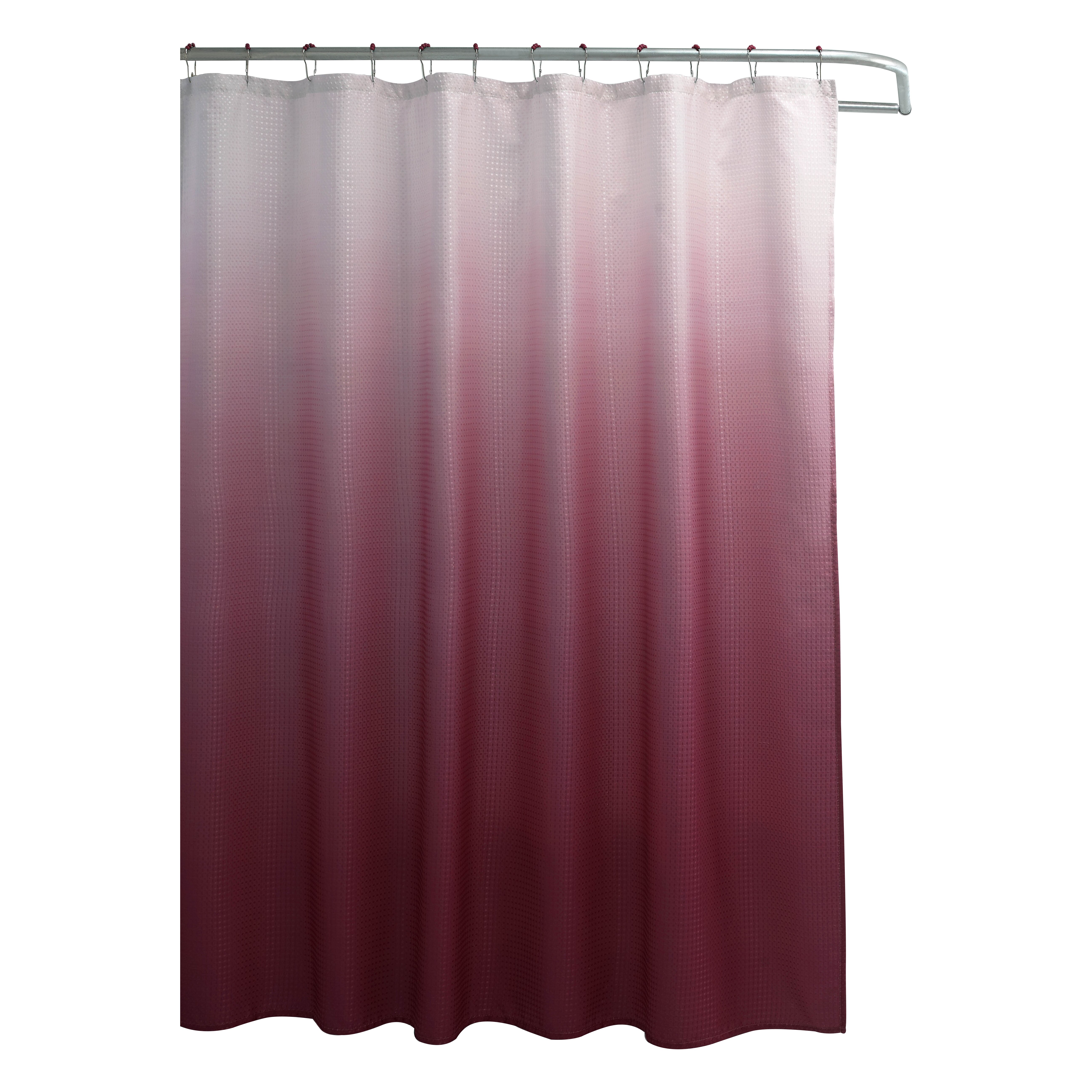 bungalow rose tighdouine waffle fabric weave shower curtain reviews wayfair. Black Bedroom Furniture Sets. Home Design Ideas