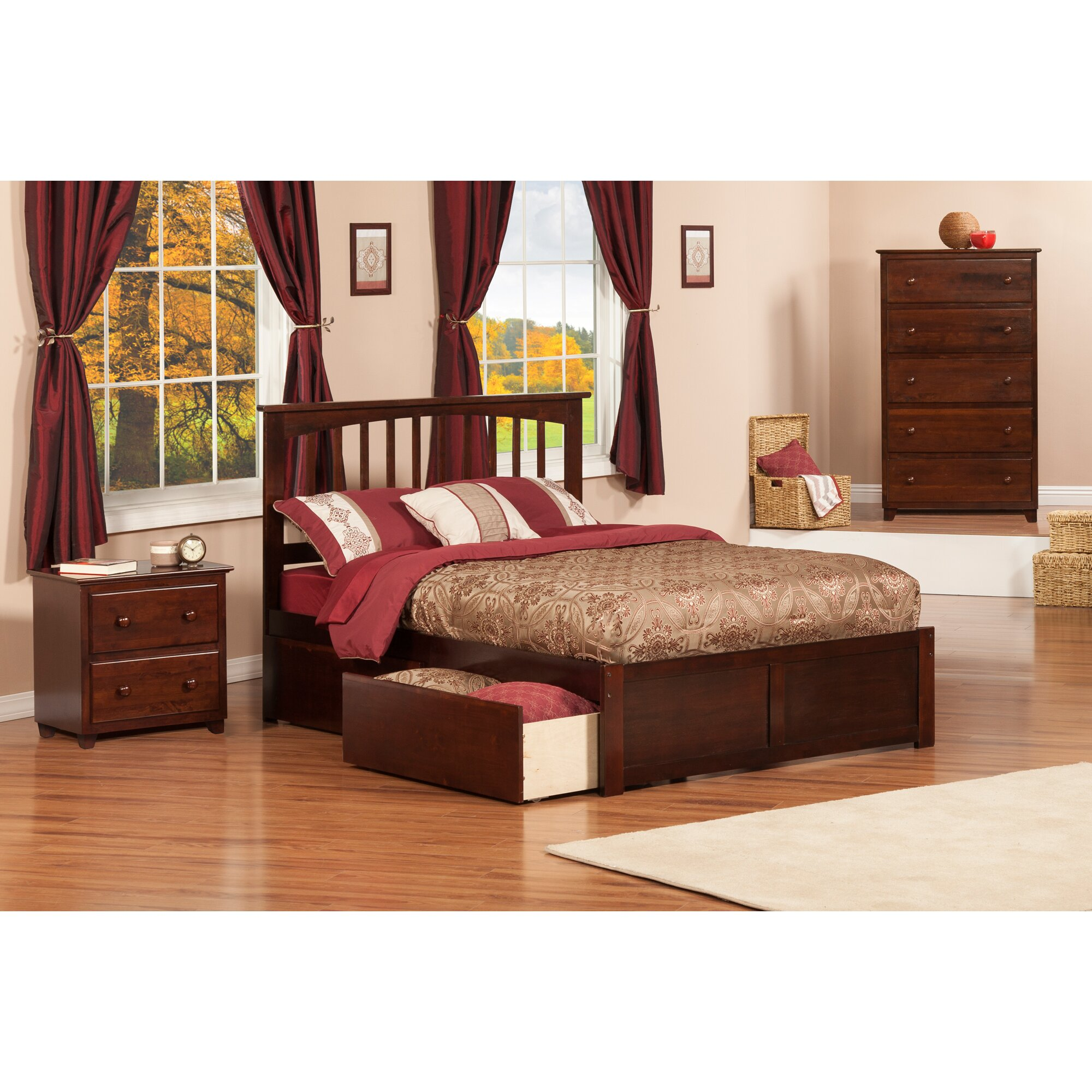 Enrique Mission Panel 3 Piece Bedroom Set