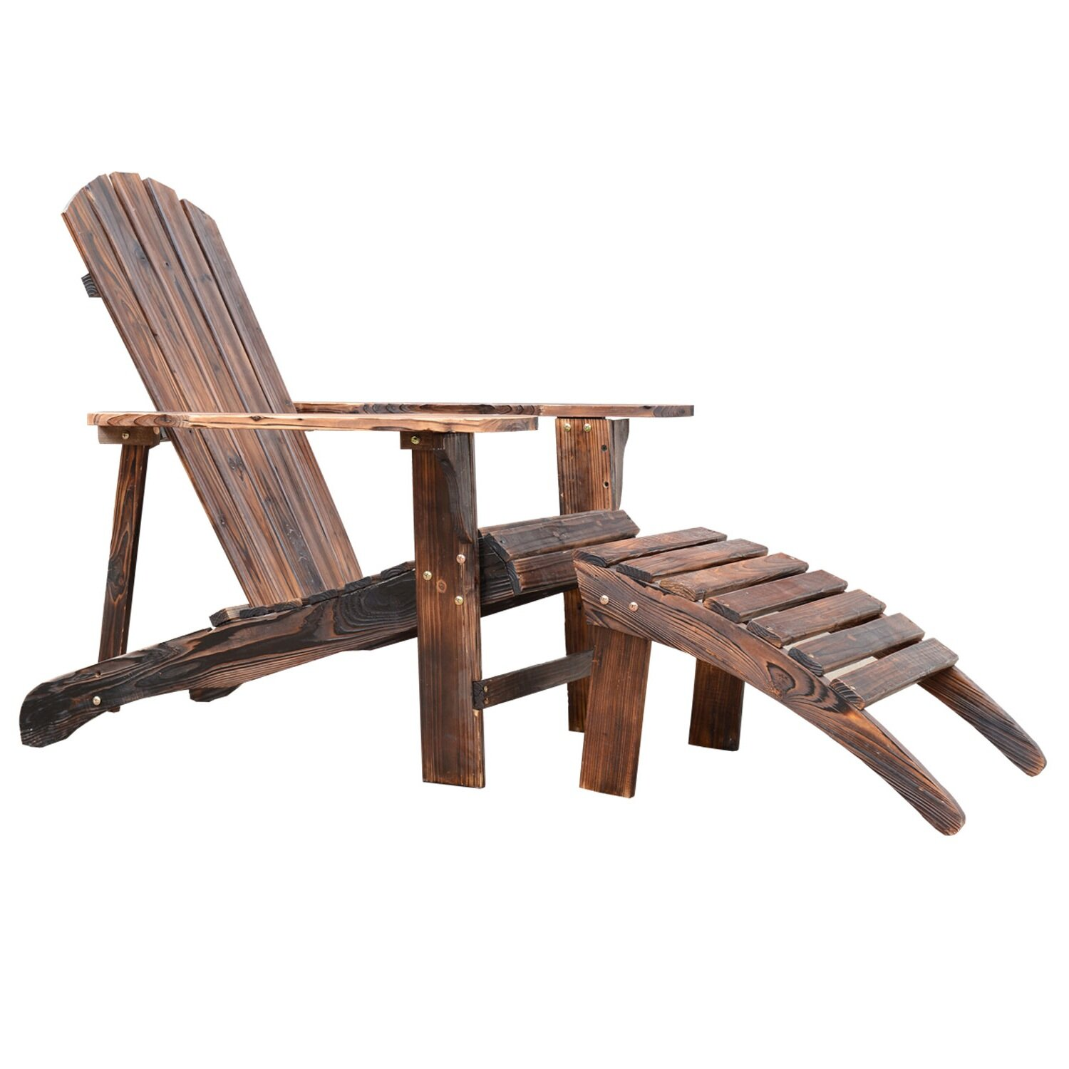 Adirondack Chair With Ottoman Wayfair