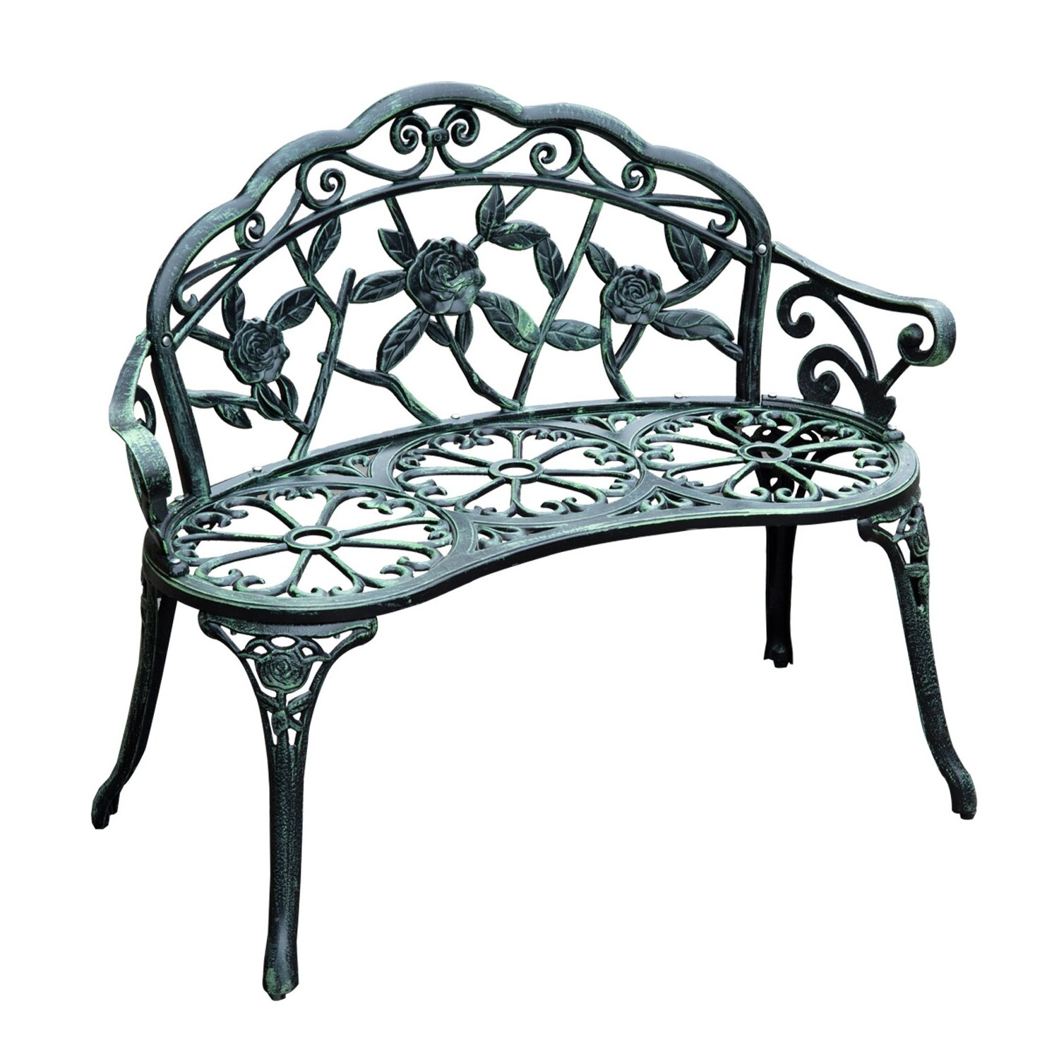Cast Iron Antique Outdoor Patio Garden Bench Wayfair