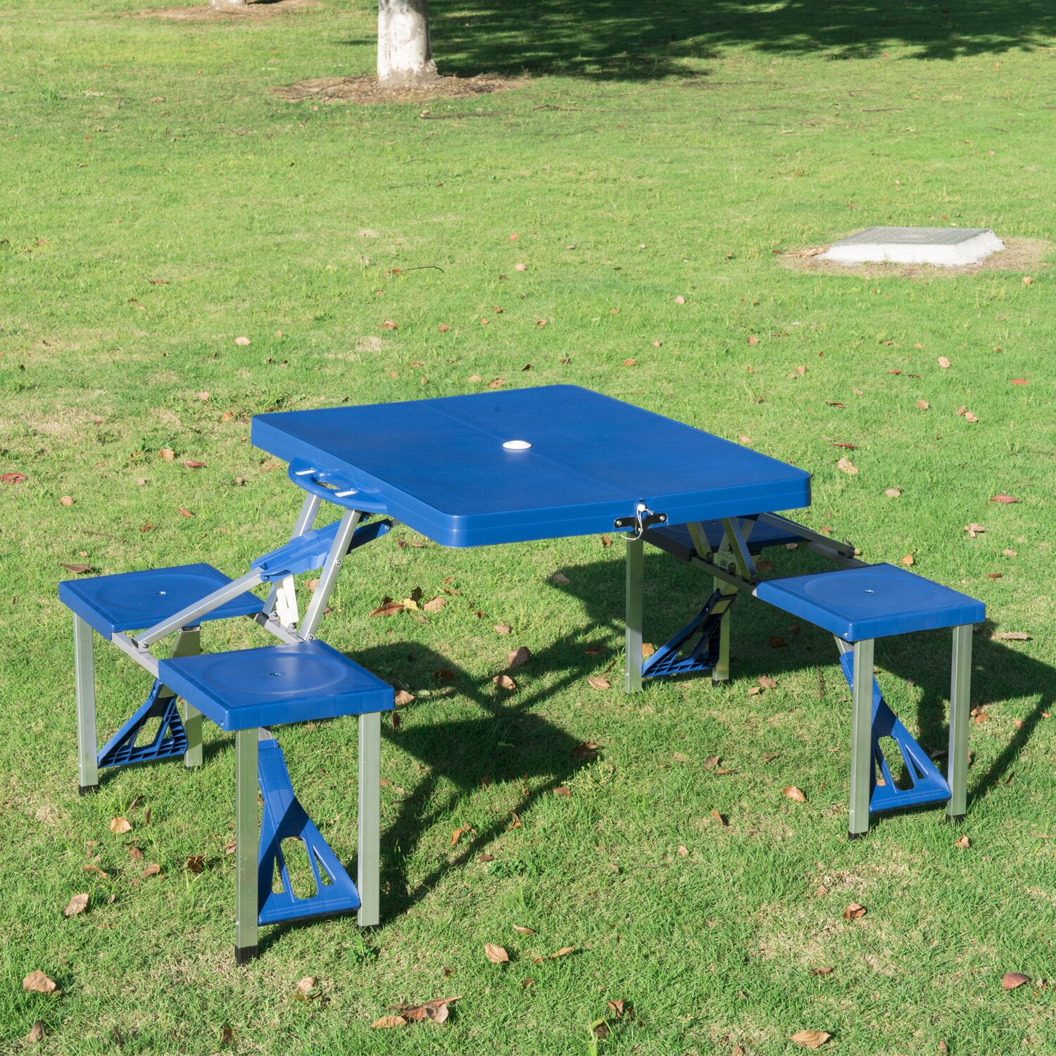 Outdoor Patio Furniture  Four Person Patio Tables Outsunny SKU
