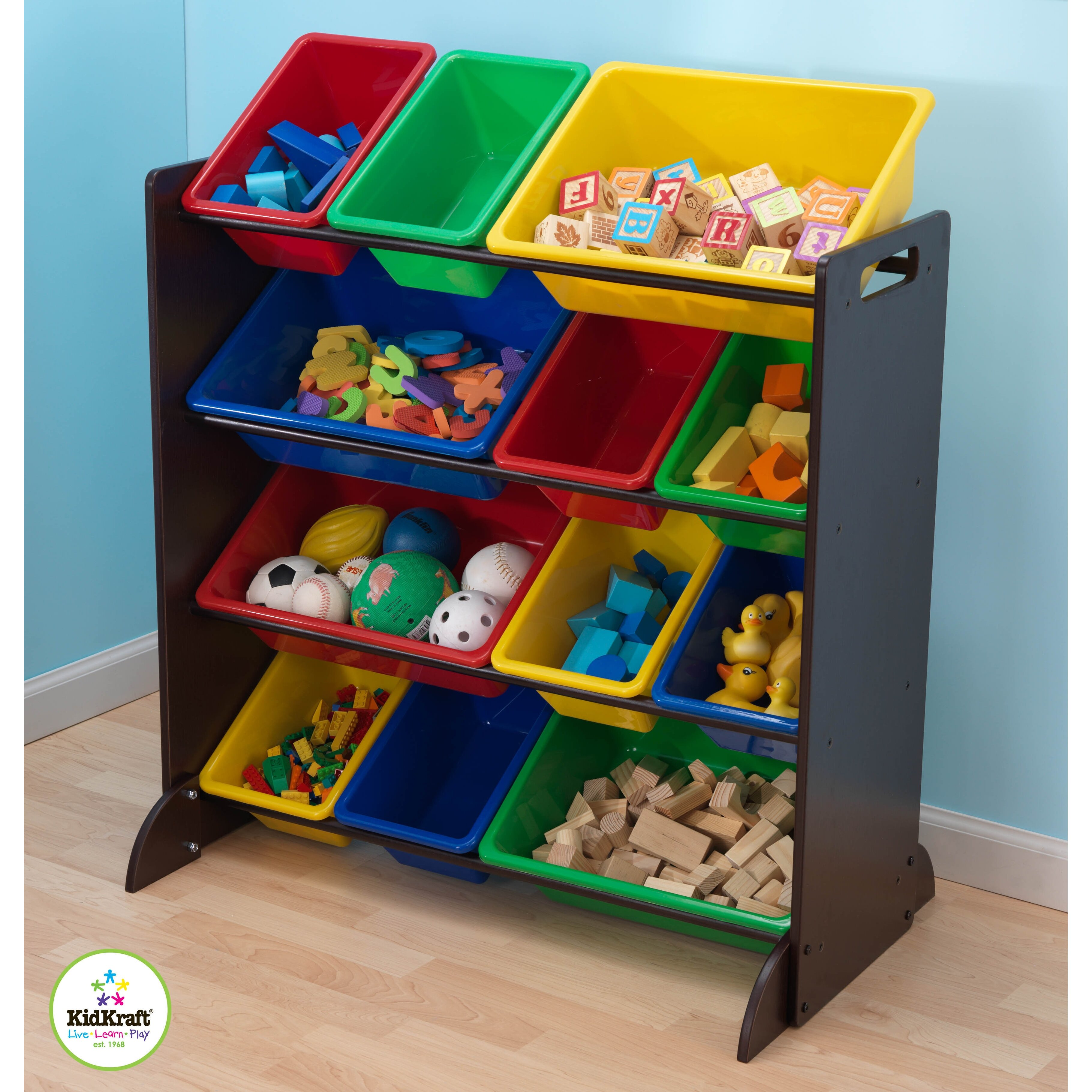 Kidkraft sort it and store it 12 compartment cubby for Wayfair store