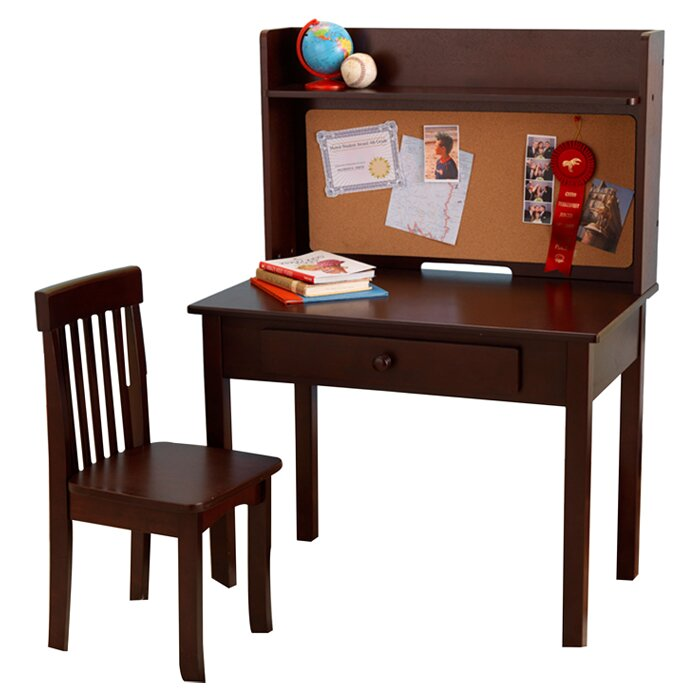 Kidkraft Pinboard 3 Piece 31 Quot Writing Desk And Hutch Set