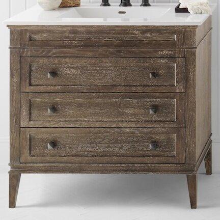 laurel 30 bathroom vanity cabinet base in vintage caf