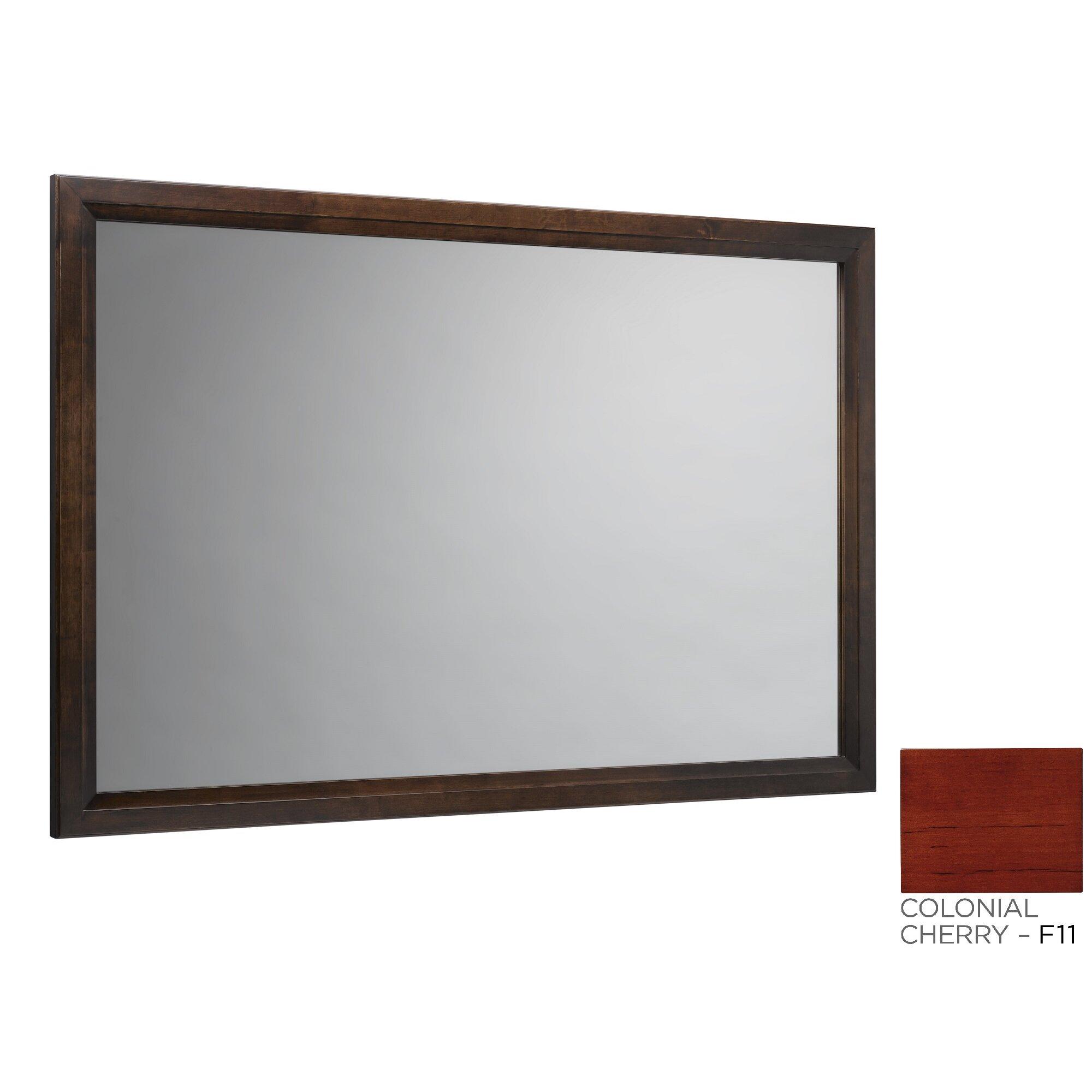 Ronbow Solid Wood Framed Bathroom Mirror In Colonial Cherry Allmodern