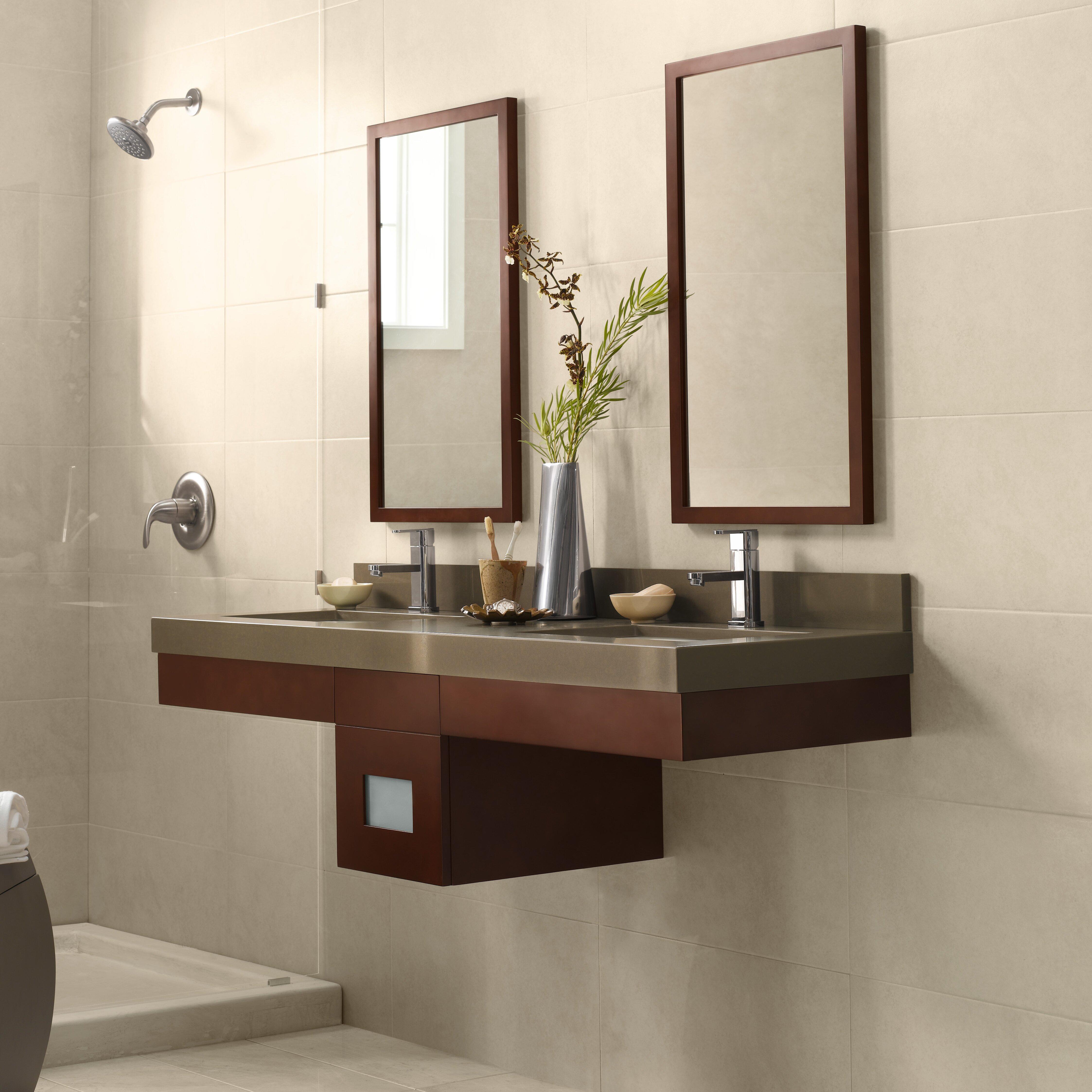 adina 23 wall mount bathroom vanity base cabinet in dark