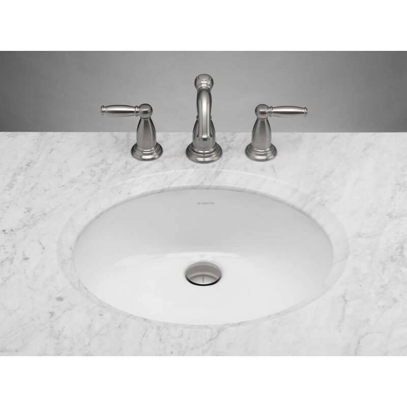 Oval Ceramic Undermount Bathroom Sink In White Wayfair