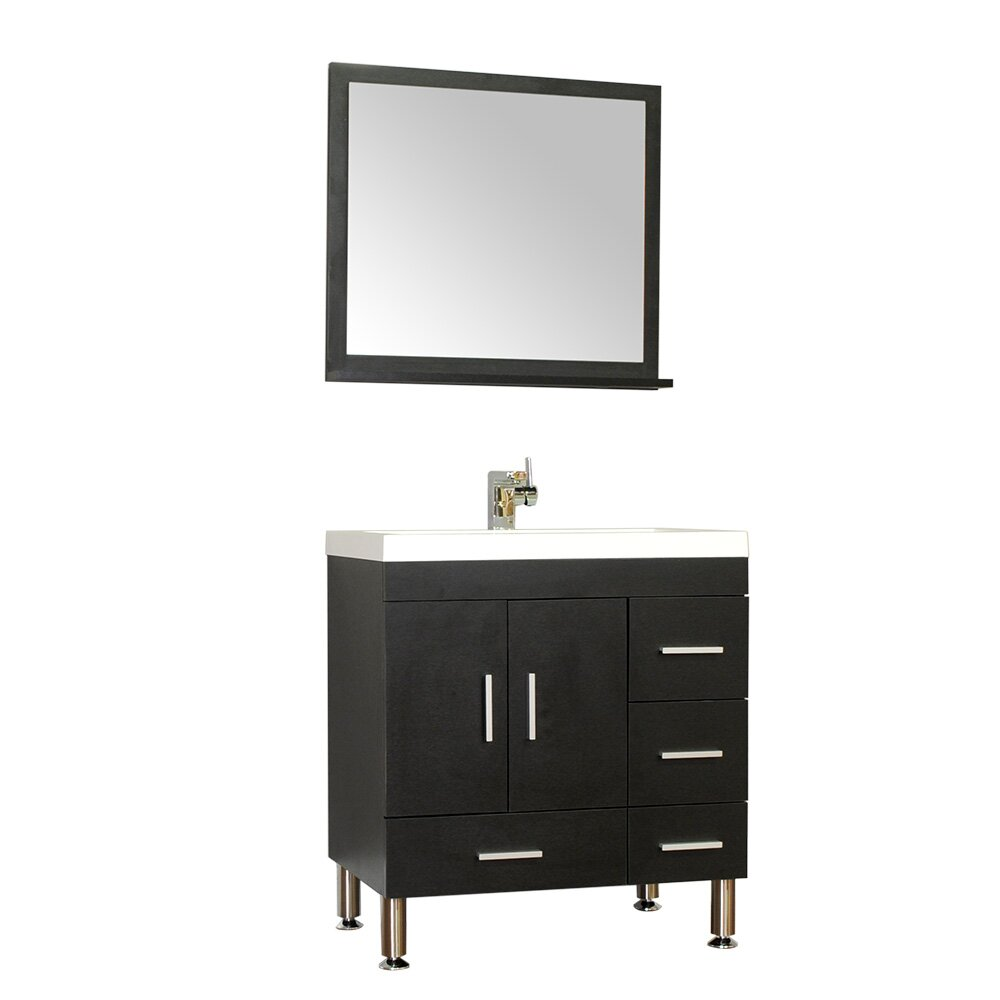 Ripley 30 Single Modern Bathroom Vanity Set With Mirror Wayfair