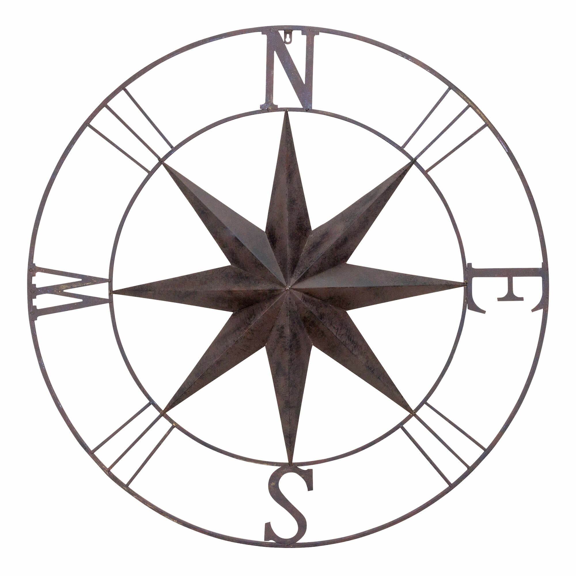 Antique metal compass rose wall decor wayfair