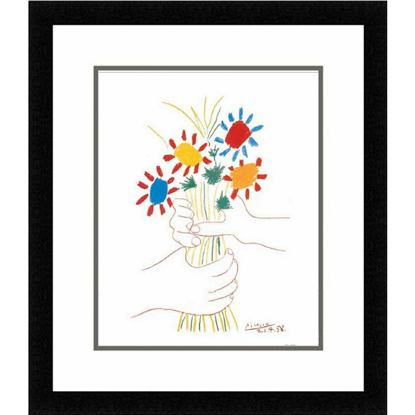 Buy Art For Less Petite Fleurs By Pablo Picasso Framed