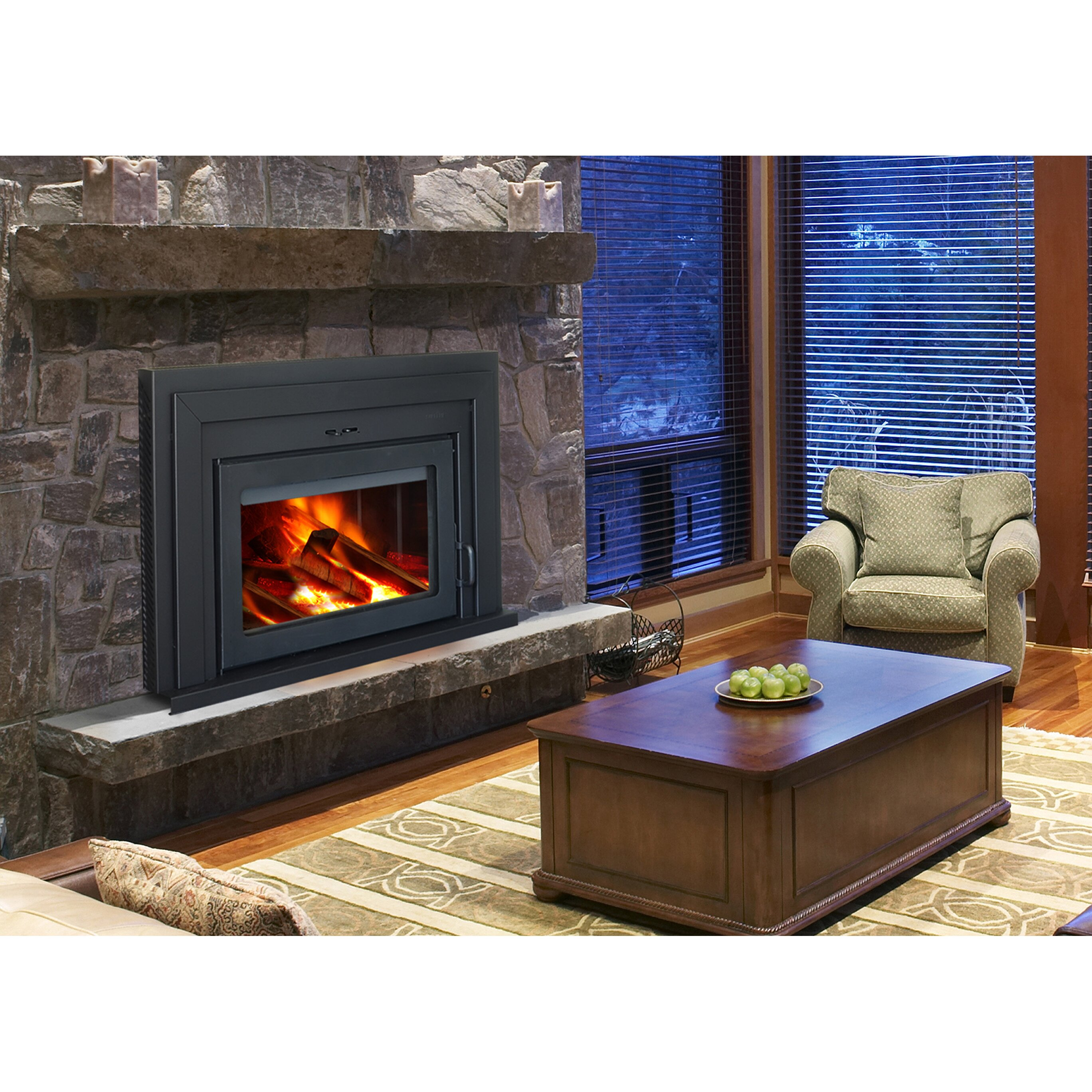 Fusion Wood Burning Fireplace Insert Wayfair