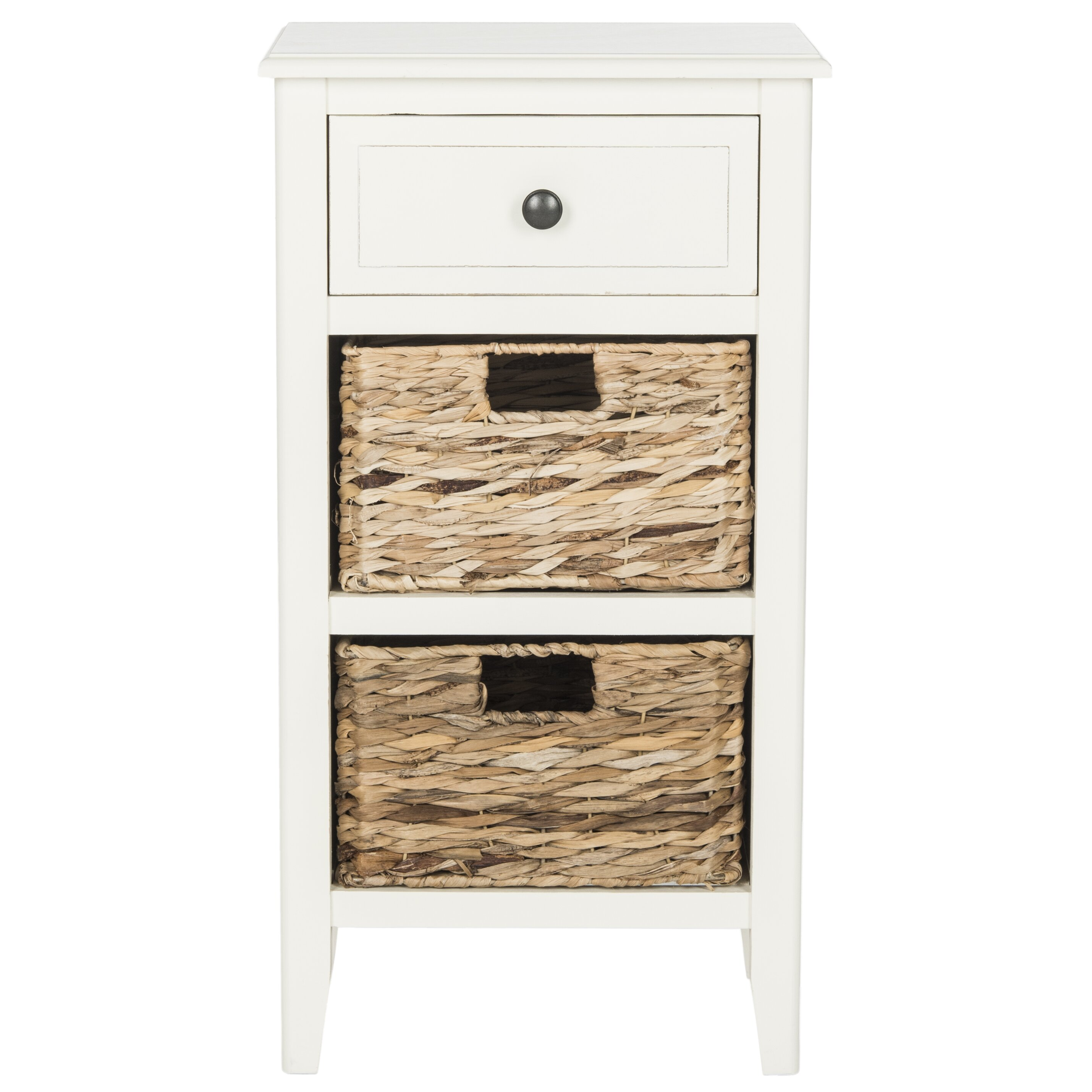 Breakwater Bay Deepwater 1 Drawer End Table In White