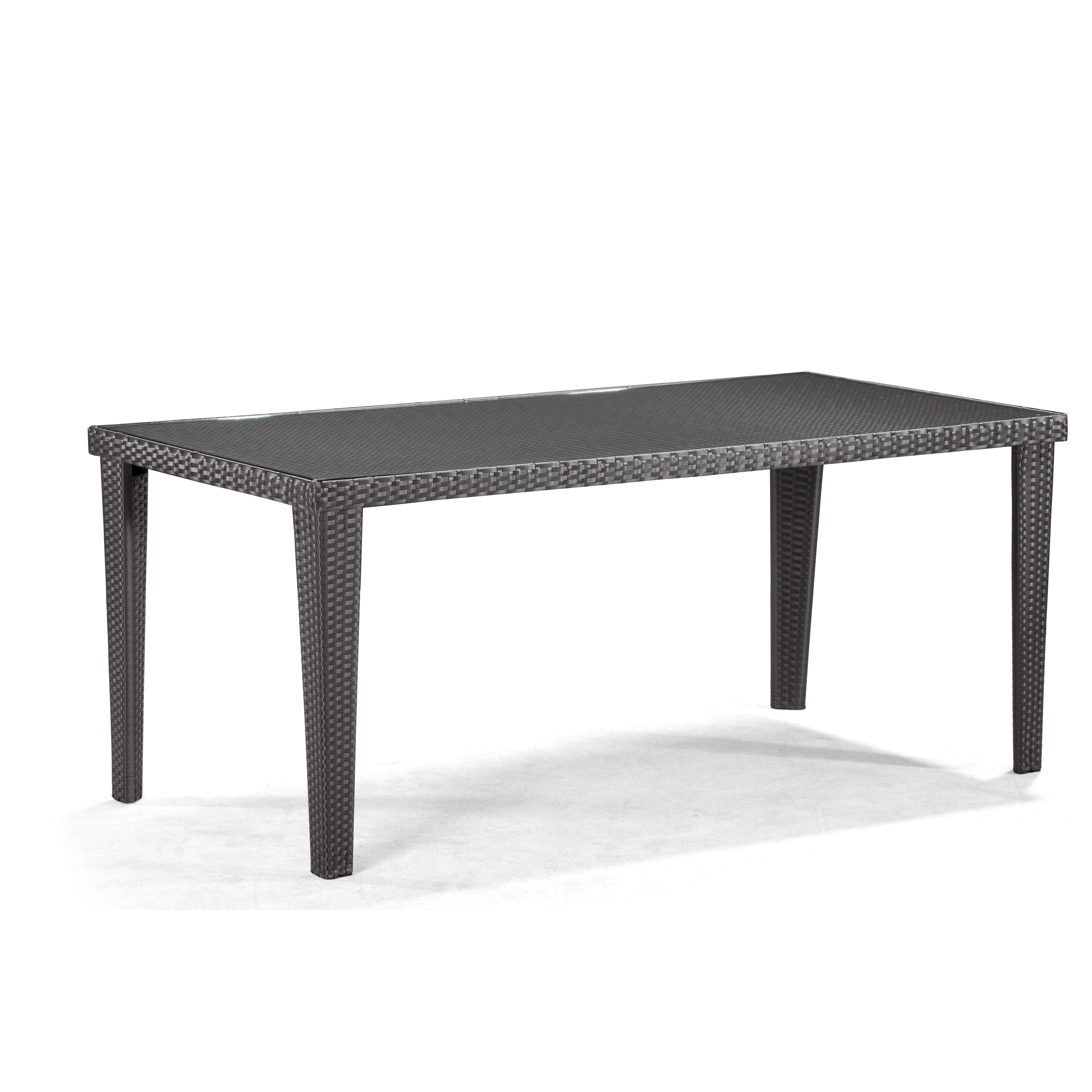 Outdoor Rectangular Dining Table In Dark Brown Reviews Wayfair