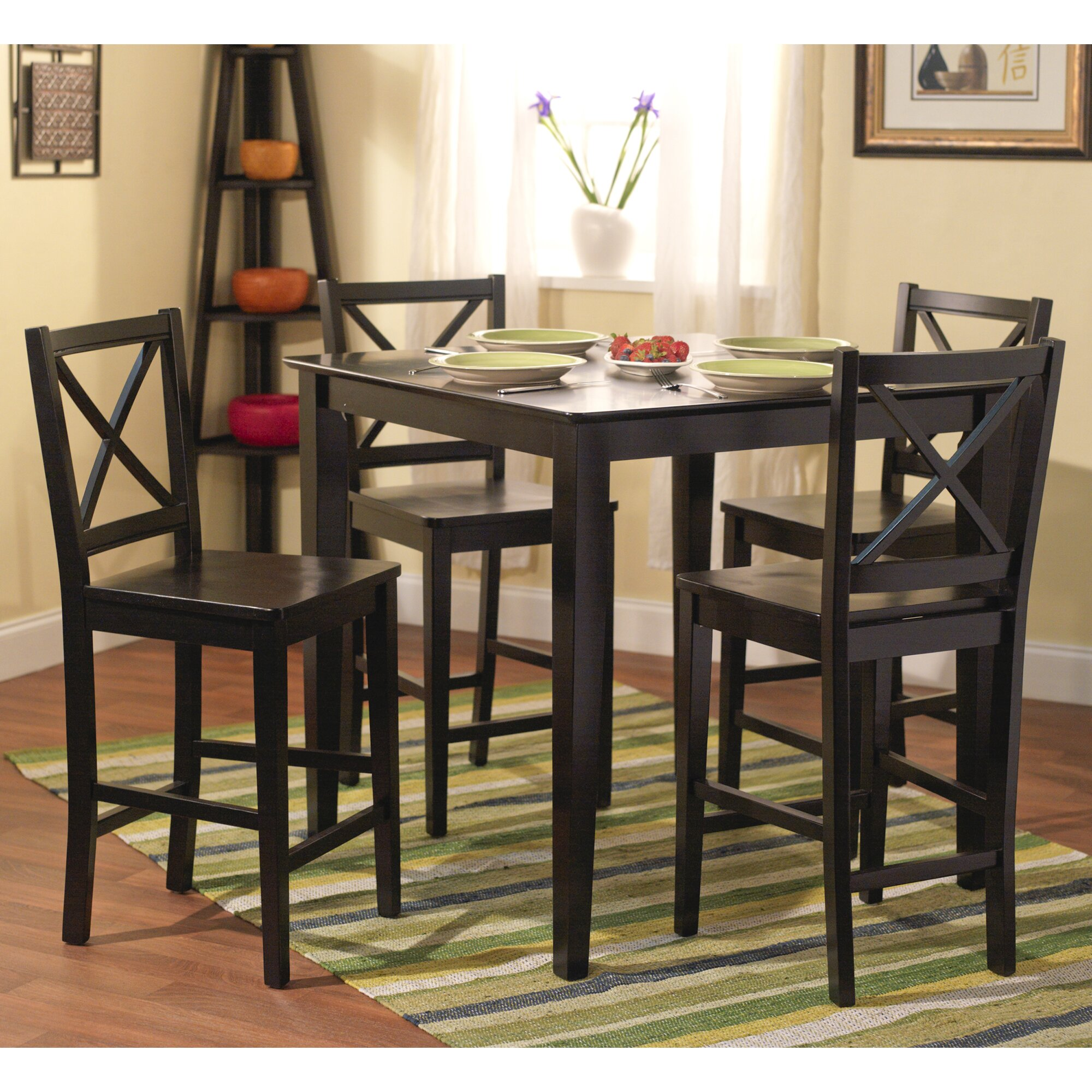 Breakwater Bay Worthington 5 Piece Counter Height Dining