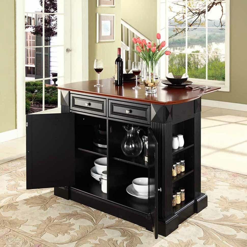 plumeria drop leaf breakfast bar top kitchen island wayfair. Black Bedroom Furniture Sets. Home Design Ideas