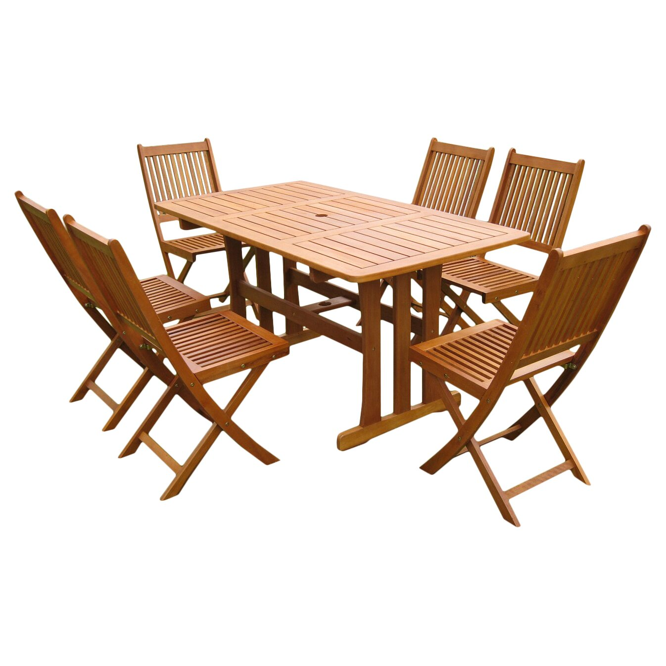 breakwater bay sabbattus 7 piece outdoor dining set