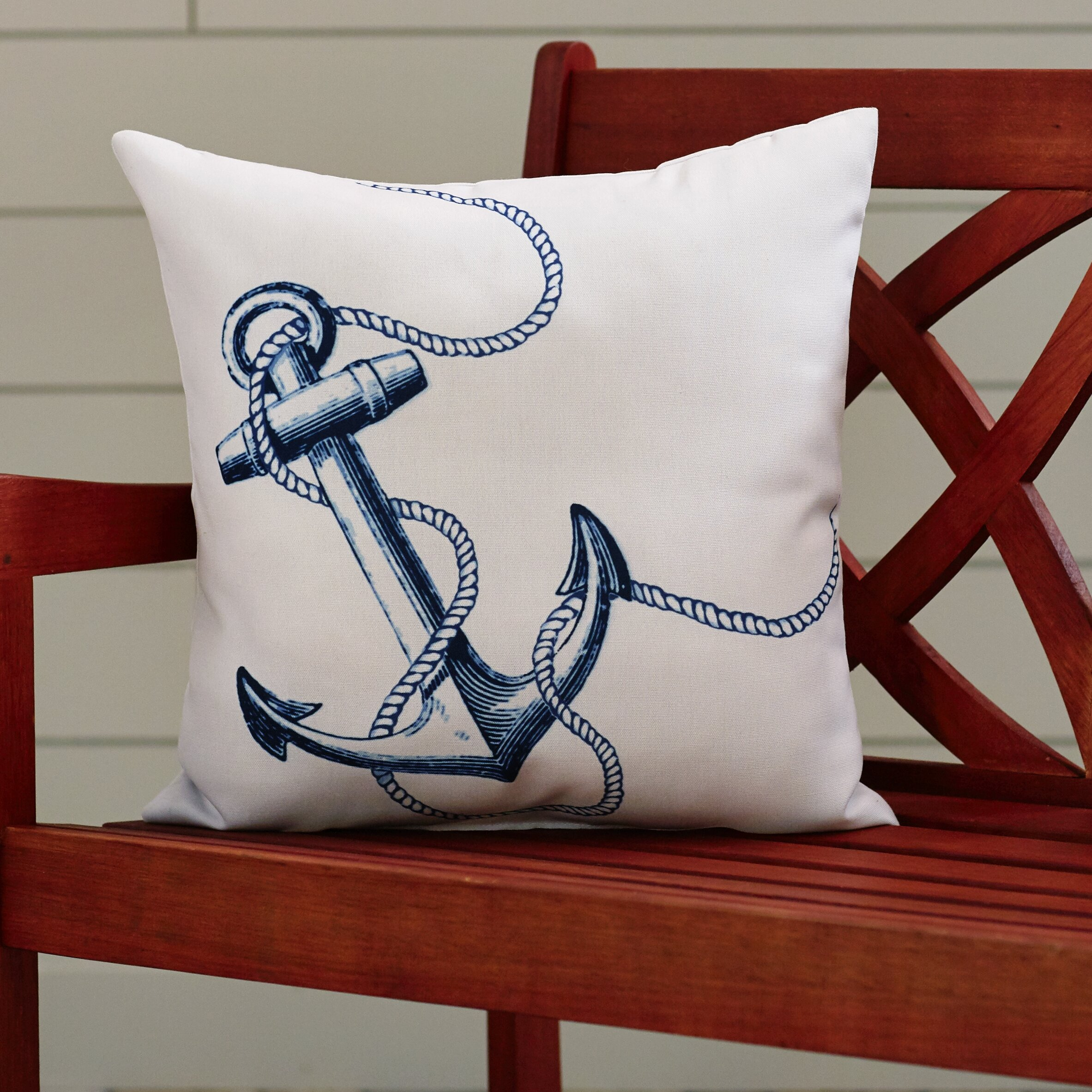 Breakwater Bay Barleycove Anchor Outdoor Throw Pillow & Reviews Wayfair