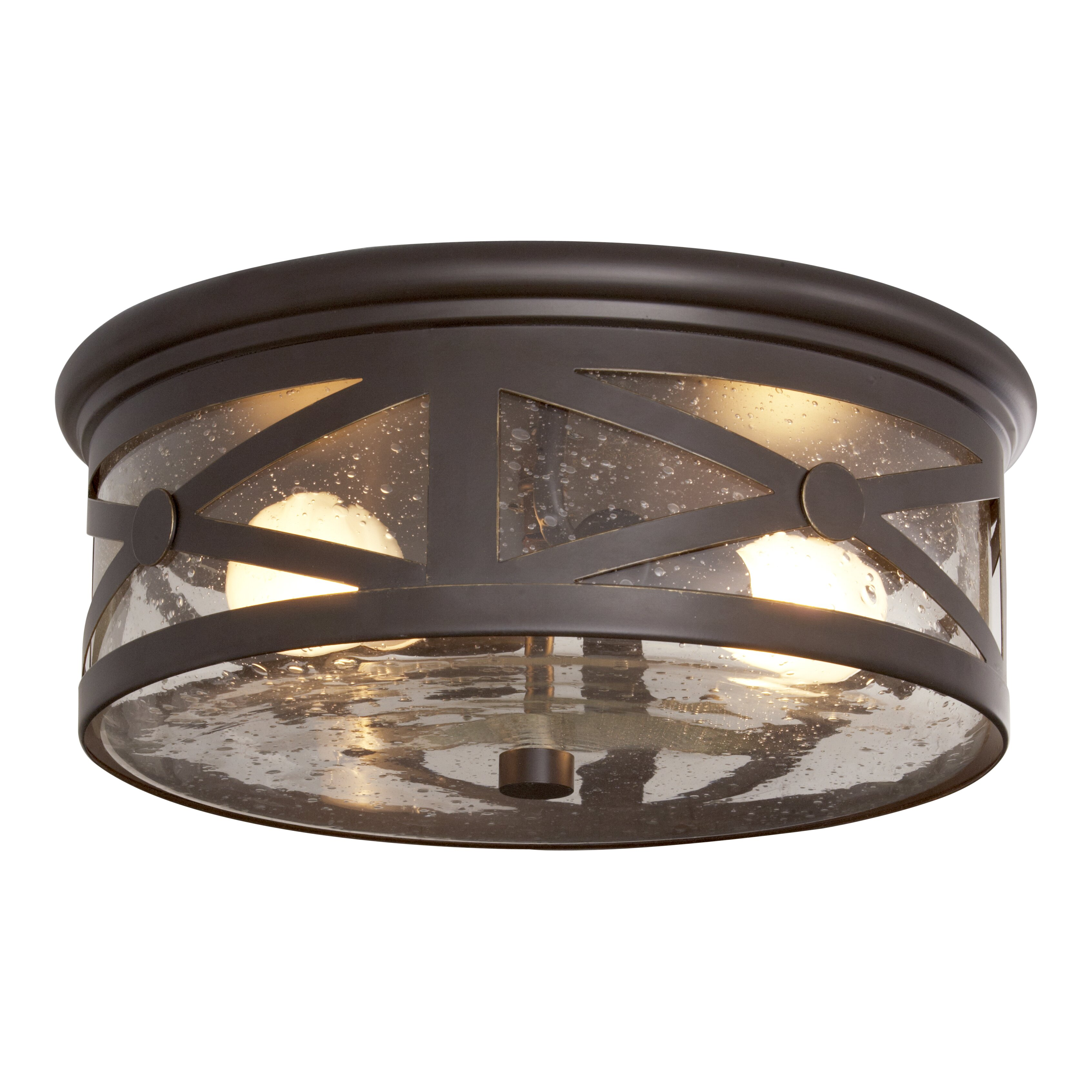 Falmouth 2 Light Outdoor Flush Mount Wayfair