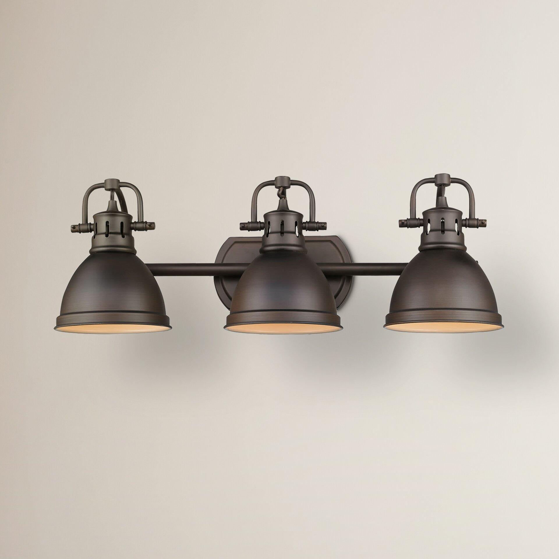 Beachcrest Home Gotha 3 Light Vanity Light Reviews: Breakwater Bay Bowdoinham 3 Light Vanity Light & Reviews