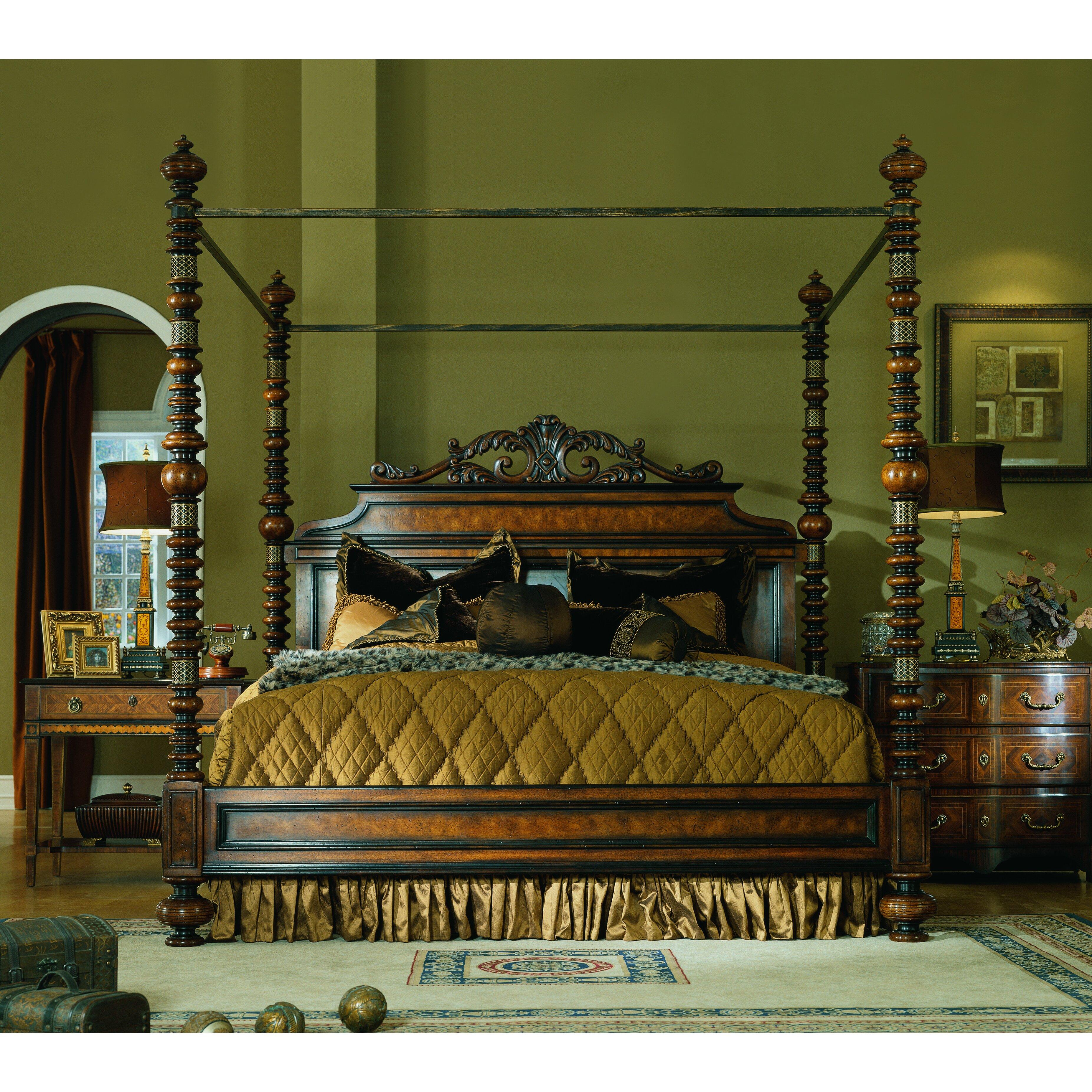 Lisbon king canopy customizable bedroom set wayfair for Eastern legends bedroom furniture