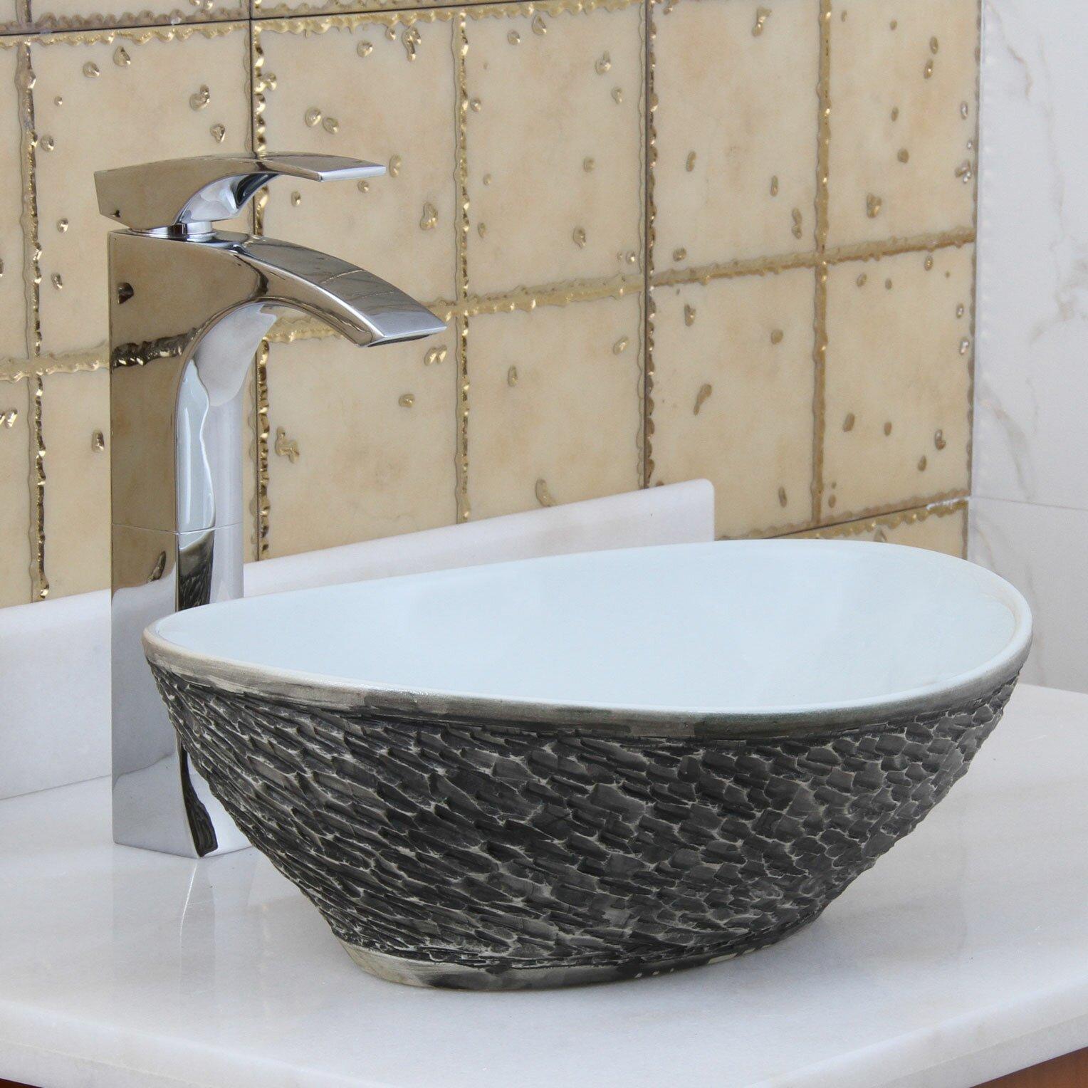 Rock Bathroom Sink : Elite Natural Rock Vessel Bathroom Sink by Elimaxs